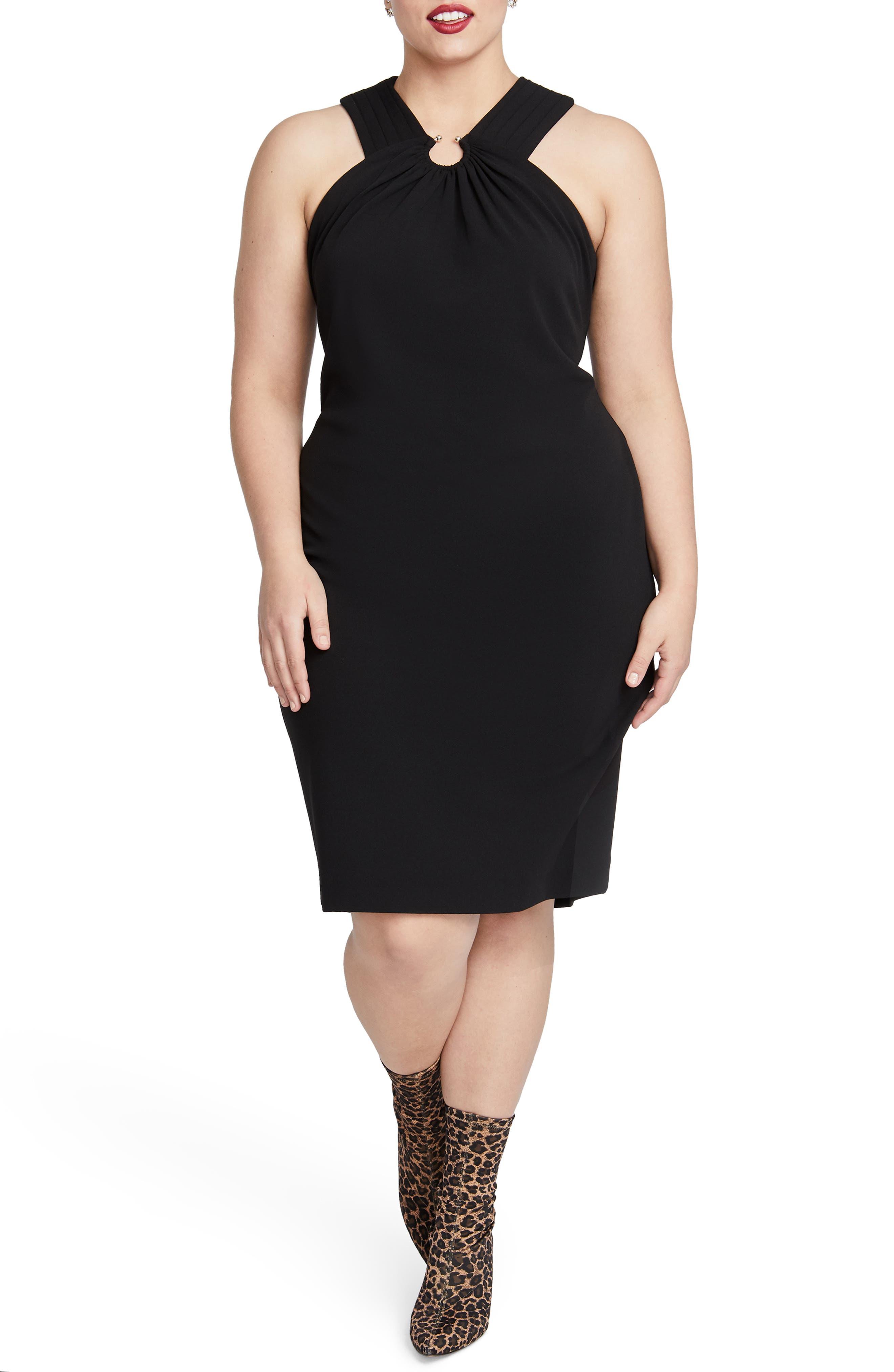 Plus Size Rachel Rachel Roy Prynn Sheath Dress, Black