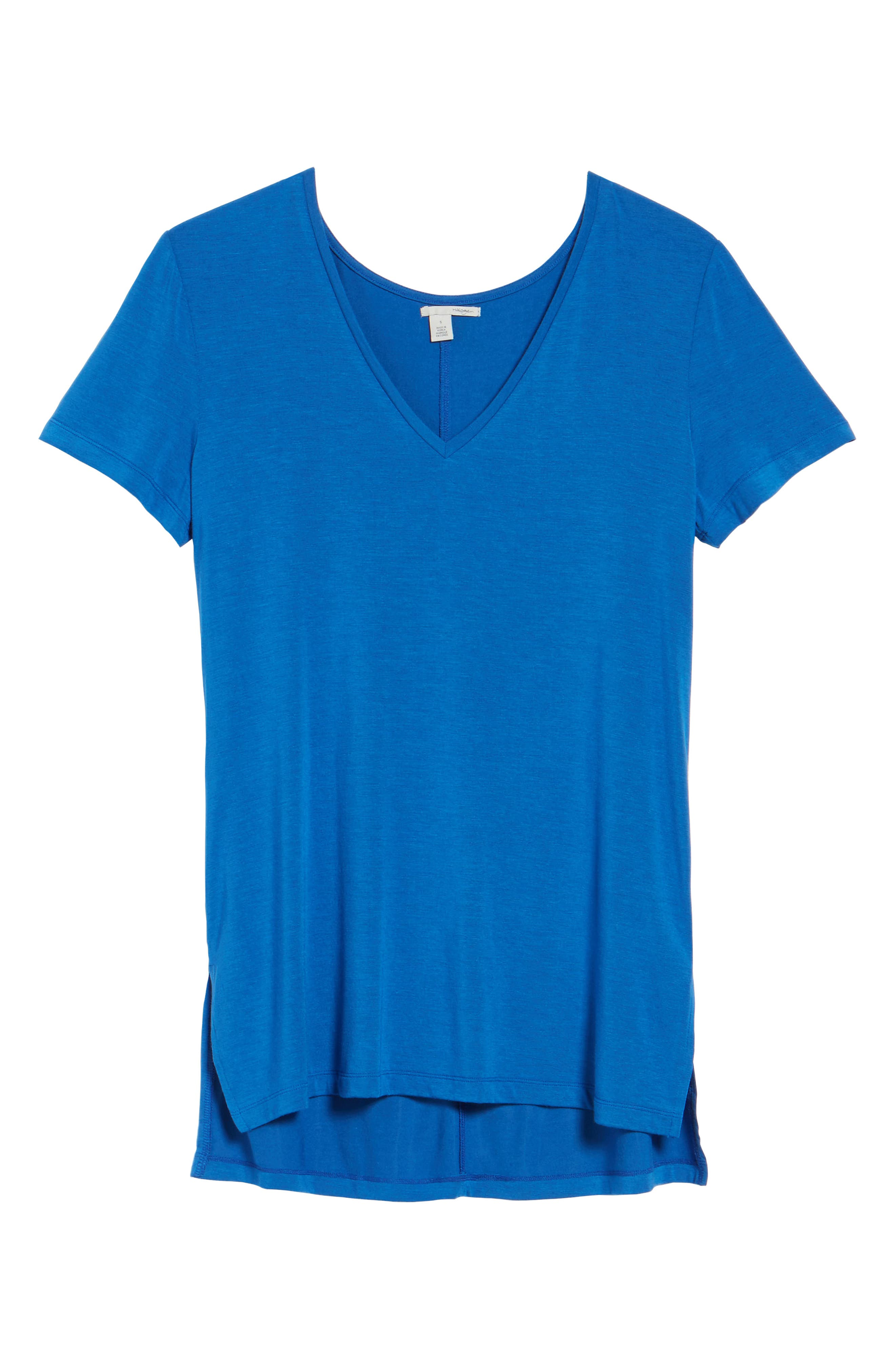 V-Neck Tunic Tee,                             Alternate thumbnail 70, color,