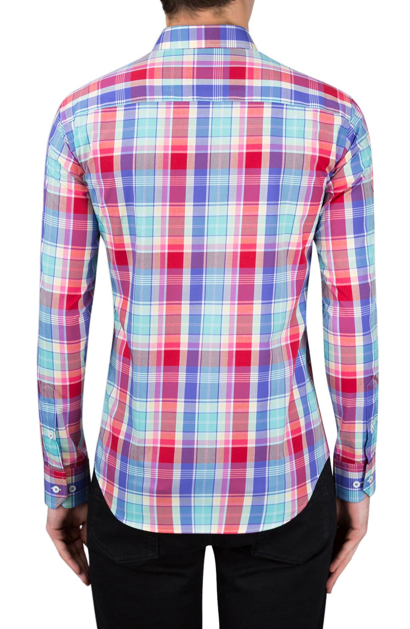 Classic Fit Plaid Sport Shirt,                             Alternate thumbnail 2, color,                             602