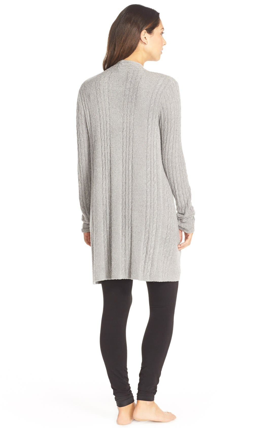 BAREFOOT DREAMS<SUP>®</SUP>,                             Cable Knit Drape Front Cardigan,                             Alternate thumbnail 2, color,                             035
