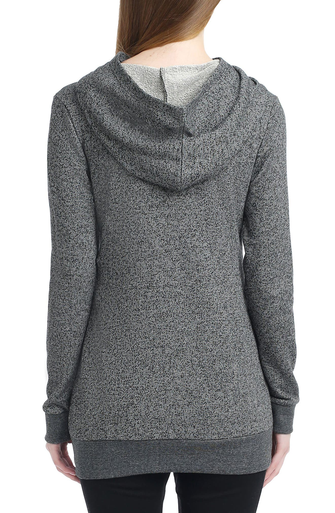 Ella Slouch Neck Maternity Hoodie,                             Alternate thumbnail 2, color,                             GREY