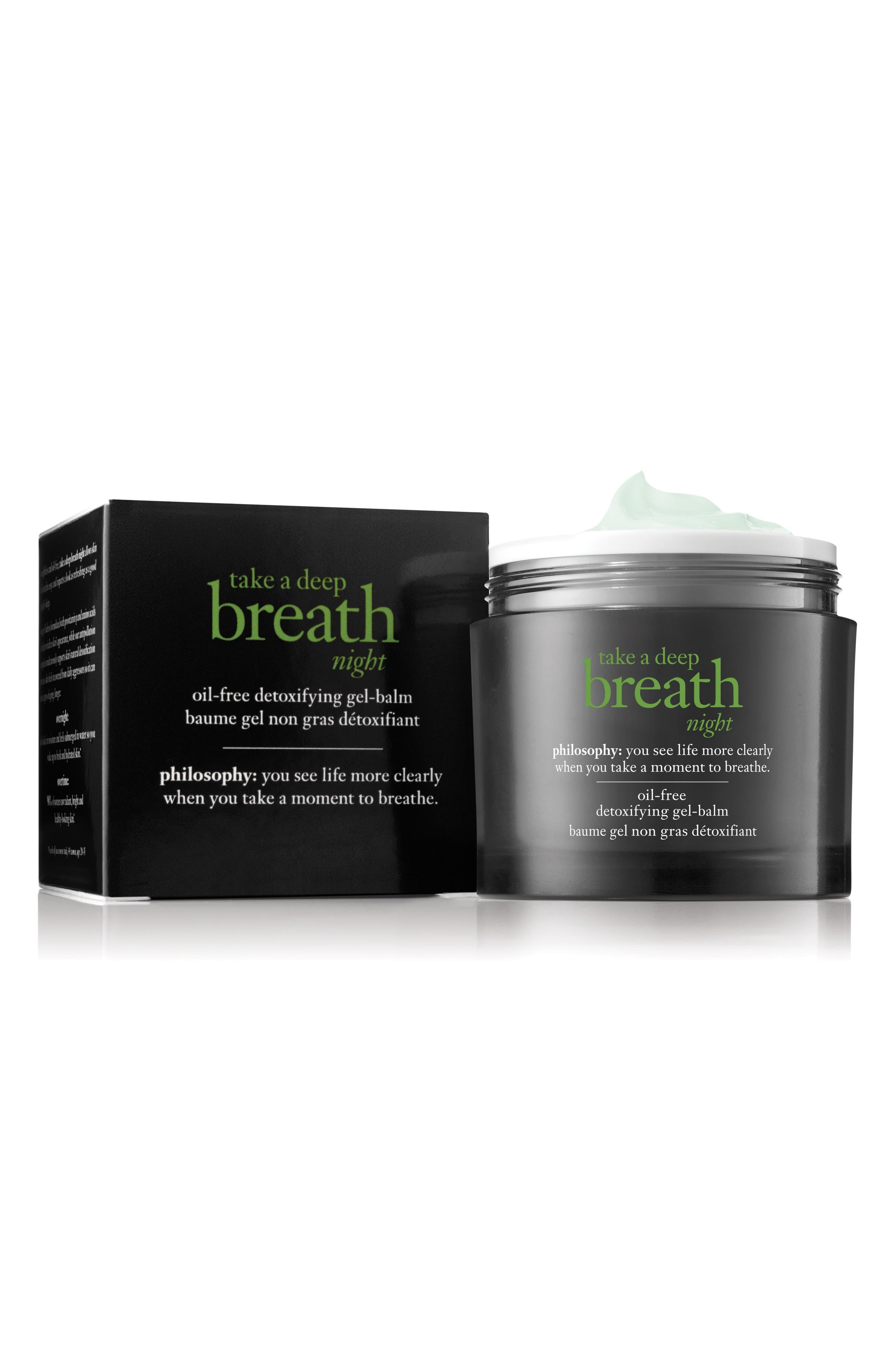 take a deep breath oil-free detoxifying night balm,                             Main thumbnail 1, color,                             000