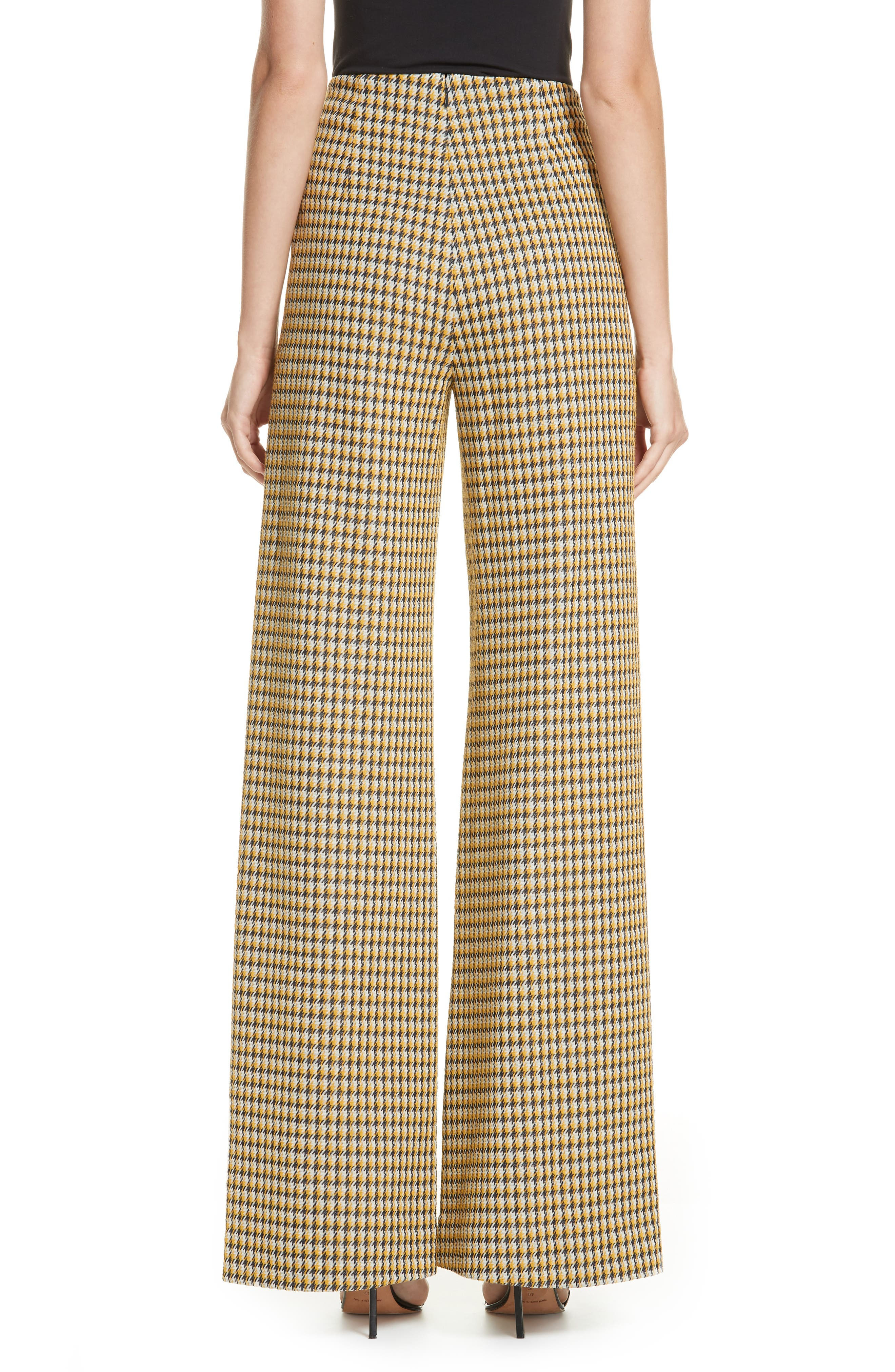 Luc Houndstooth Wide Leg Pants,                             Alternate thumbnail 2, color,                             YELLOW/ MIDNIGHT