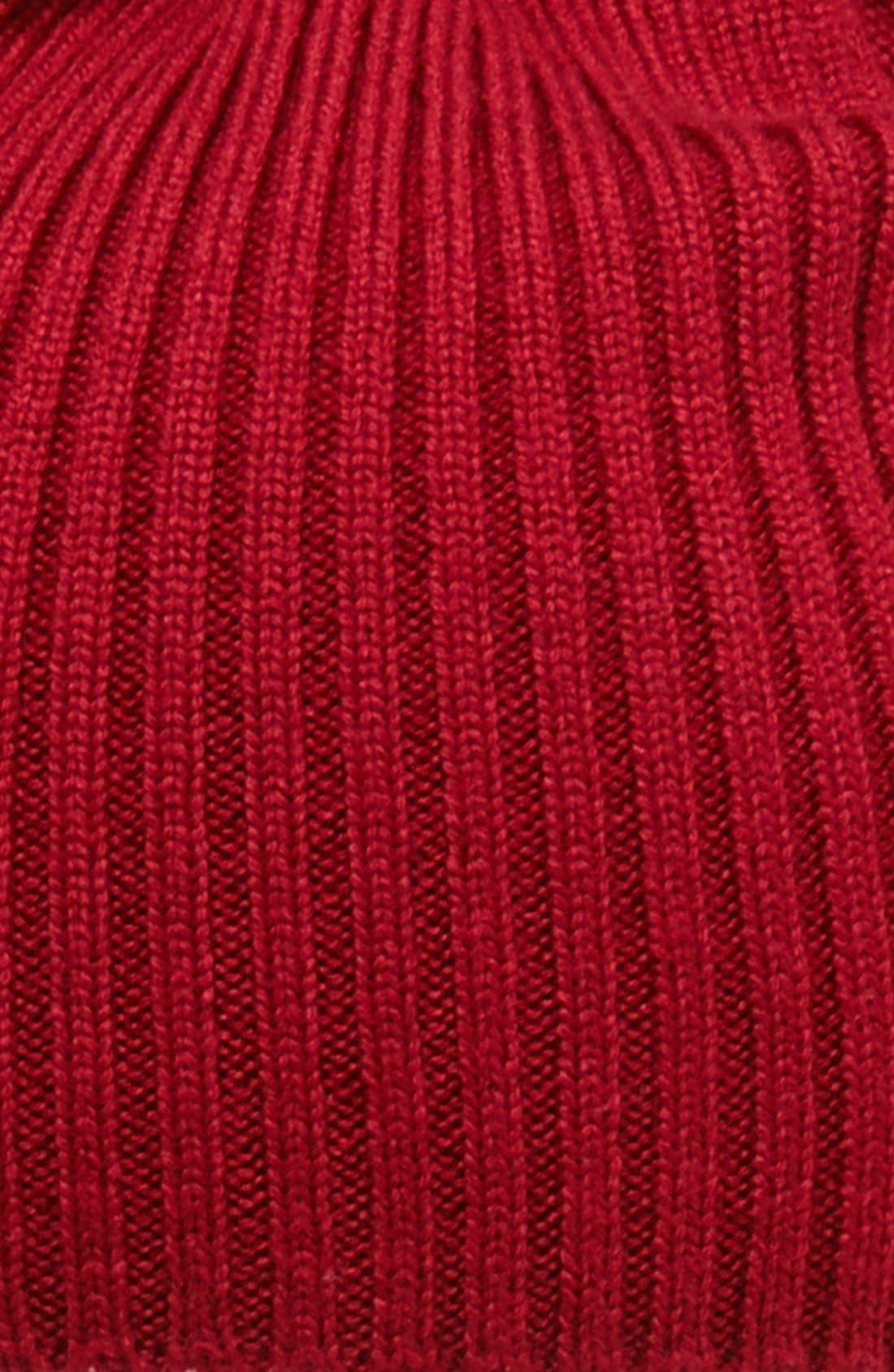 Rib Knit Wool Beanie,                             Alternate thumbnail 18, color,