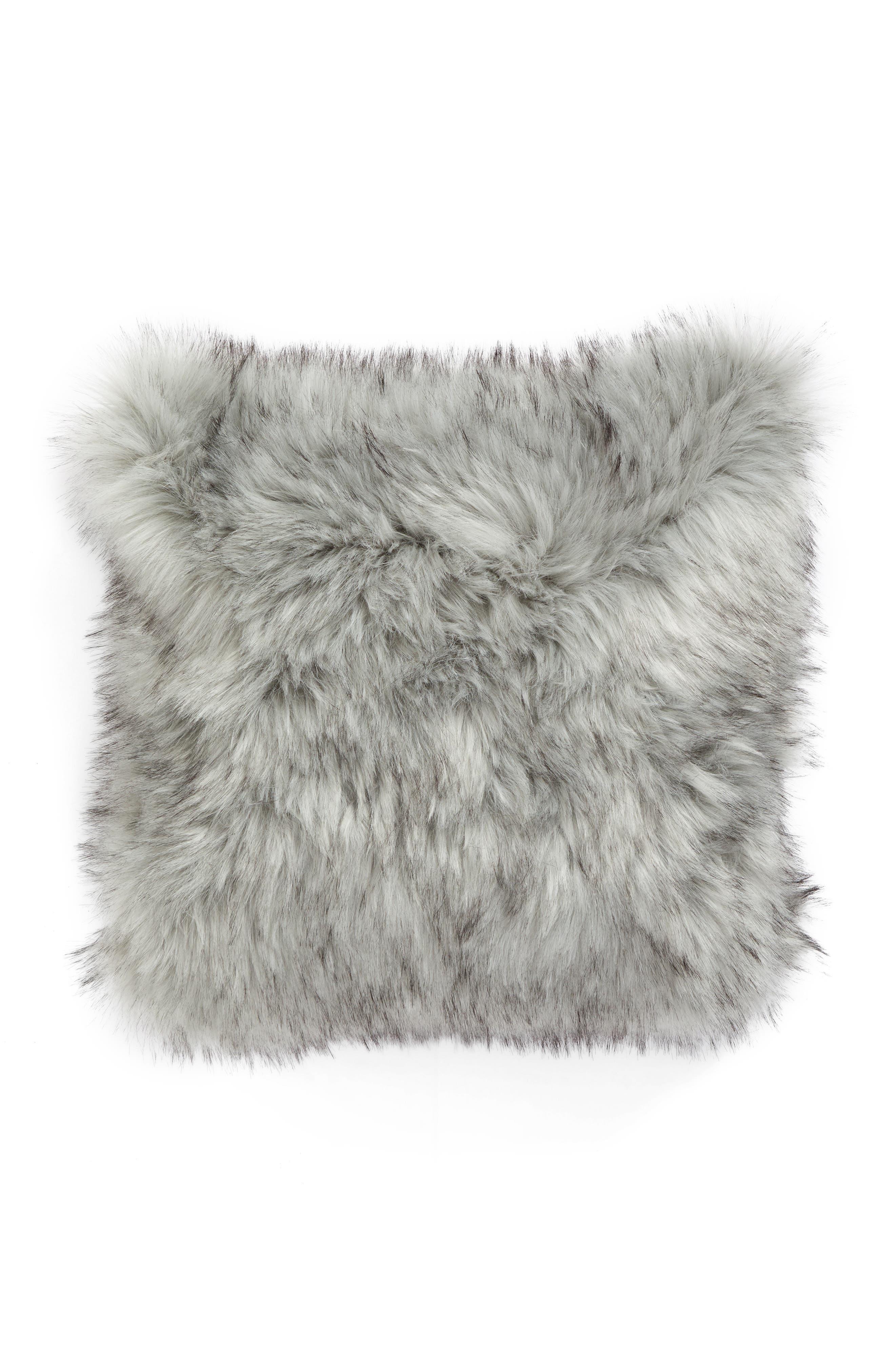 Faux Fur Accent Pillow,                             Alternate thumbnail 2, color,                             020