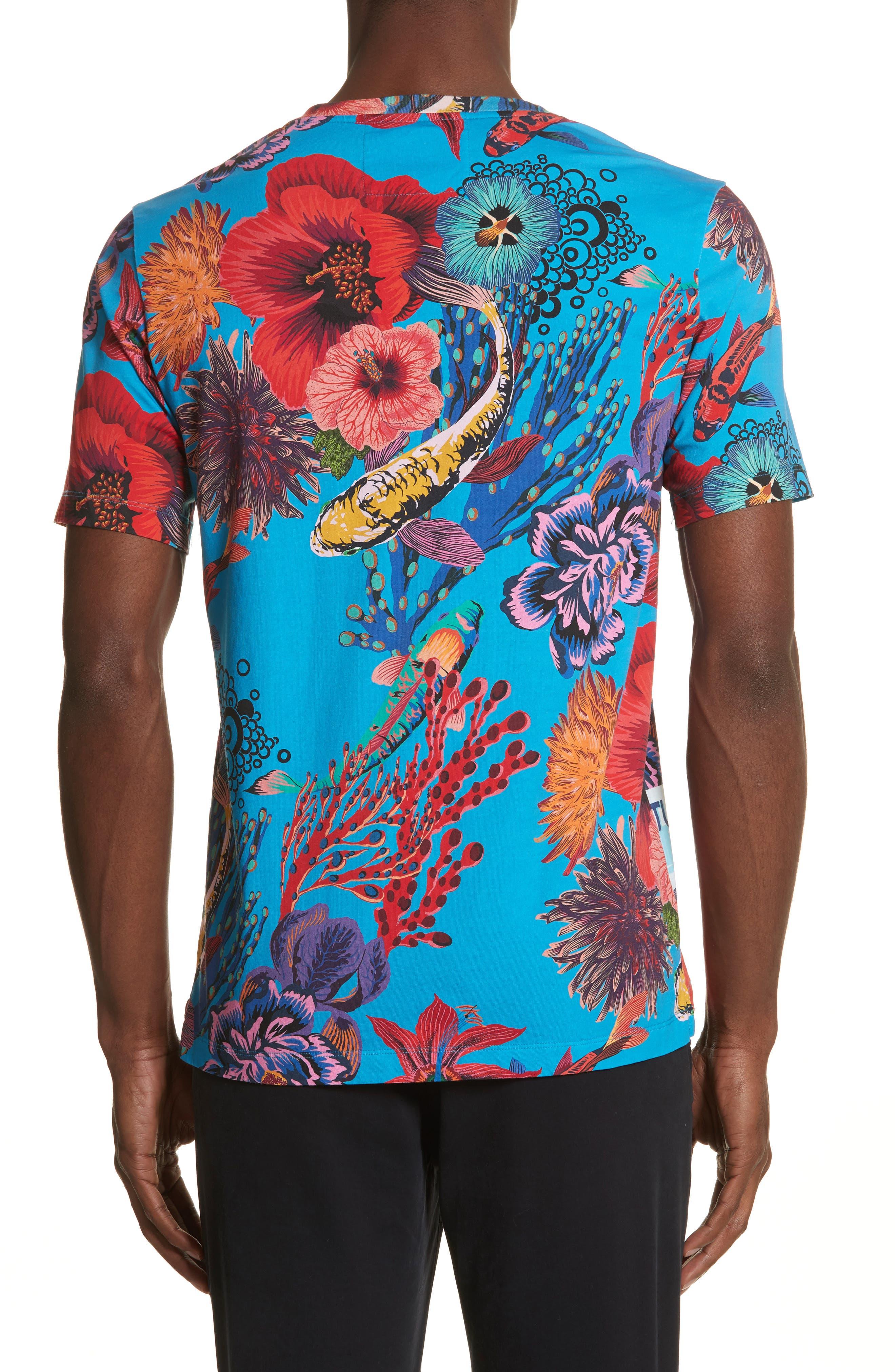 Fish Print T-Shirt,                             Alternate thumbnail 2, color,                             454