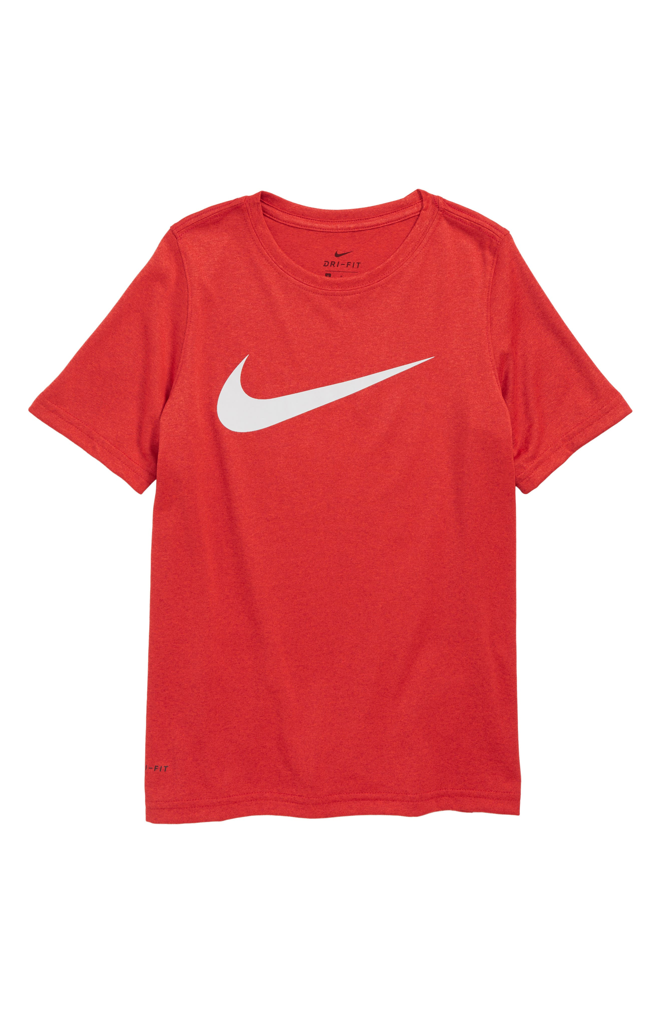 Dry Swoosh T-Shirt,                         Main,                         color, RED / WHITE
