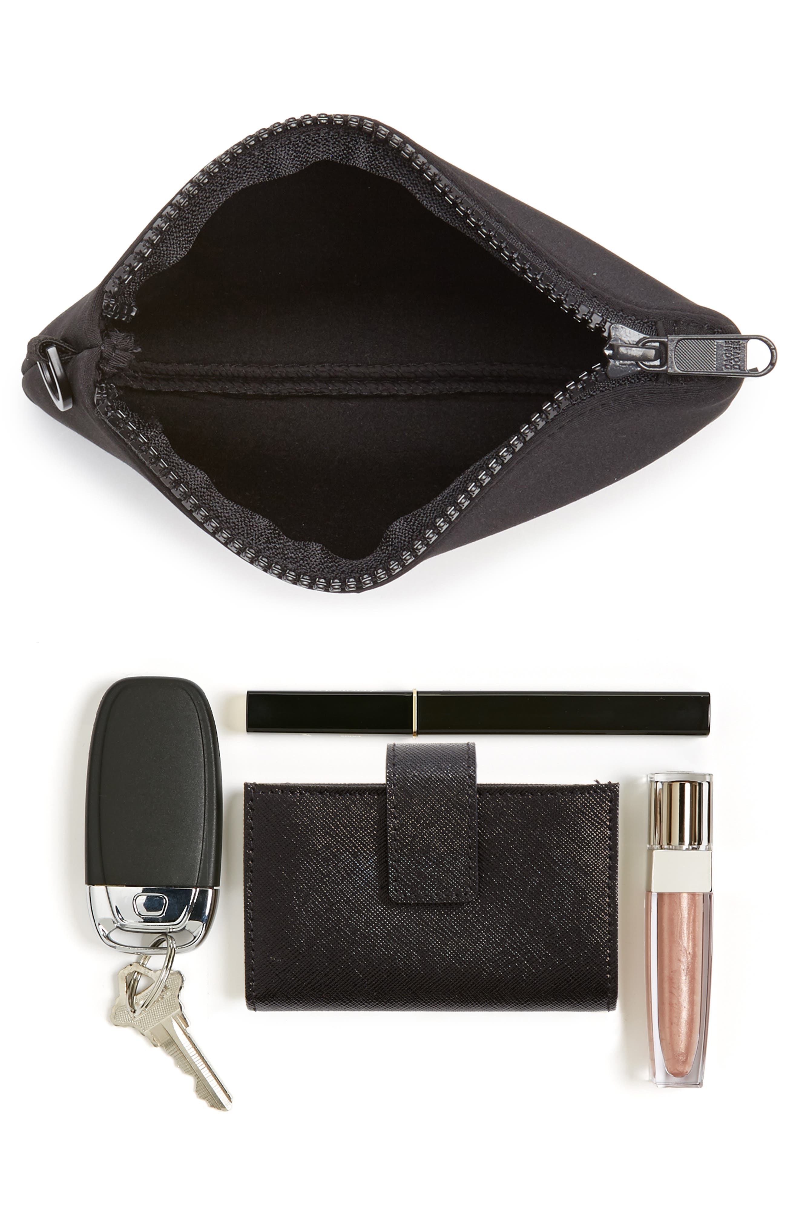 Scout Small Zip Top Pouch,                             Alternate thumbnail 7, color,                             ONYX