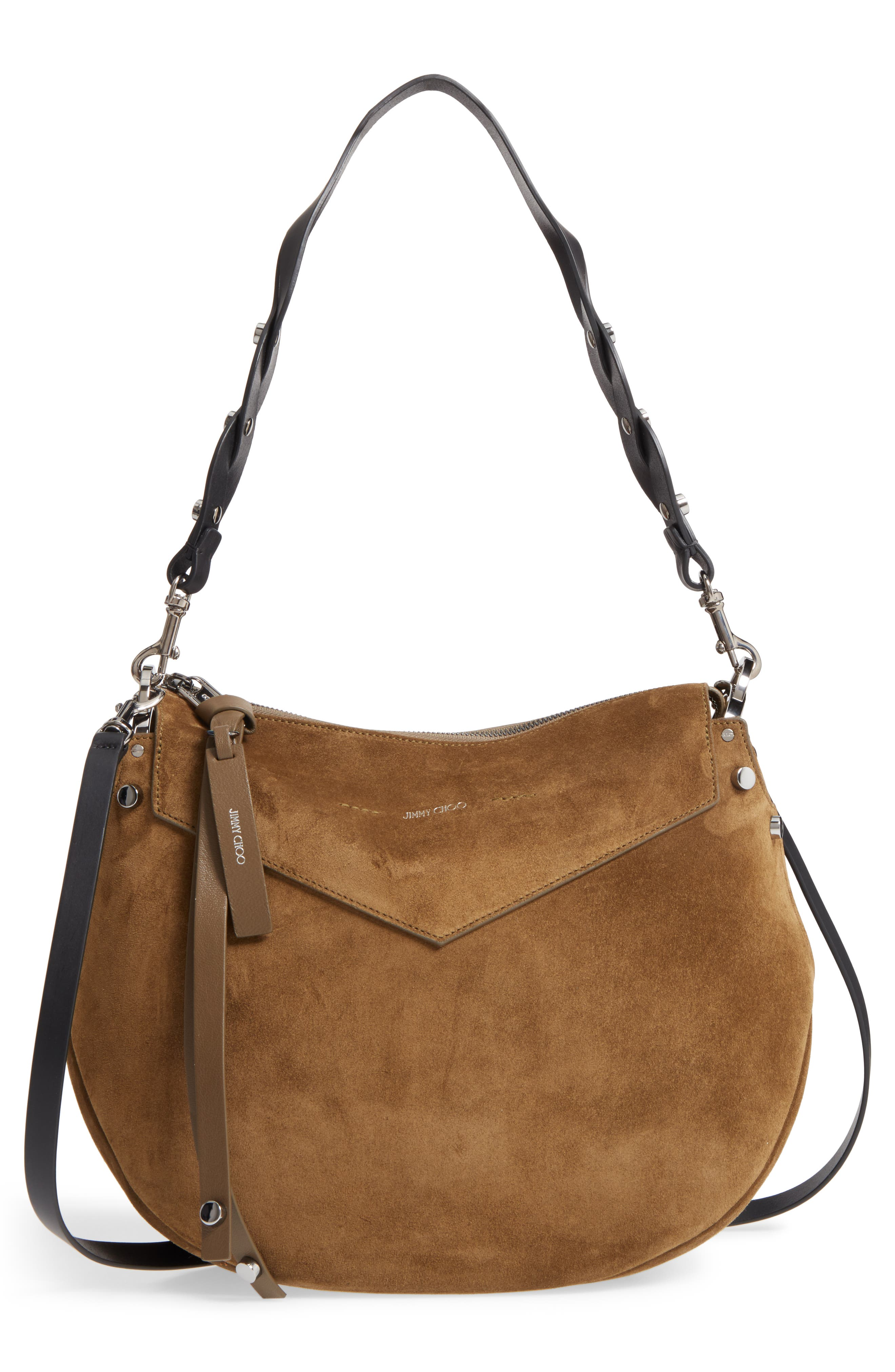 Artie Suede Hobo Bag,                             Alternate thumbnail 7, color,