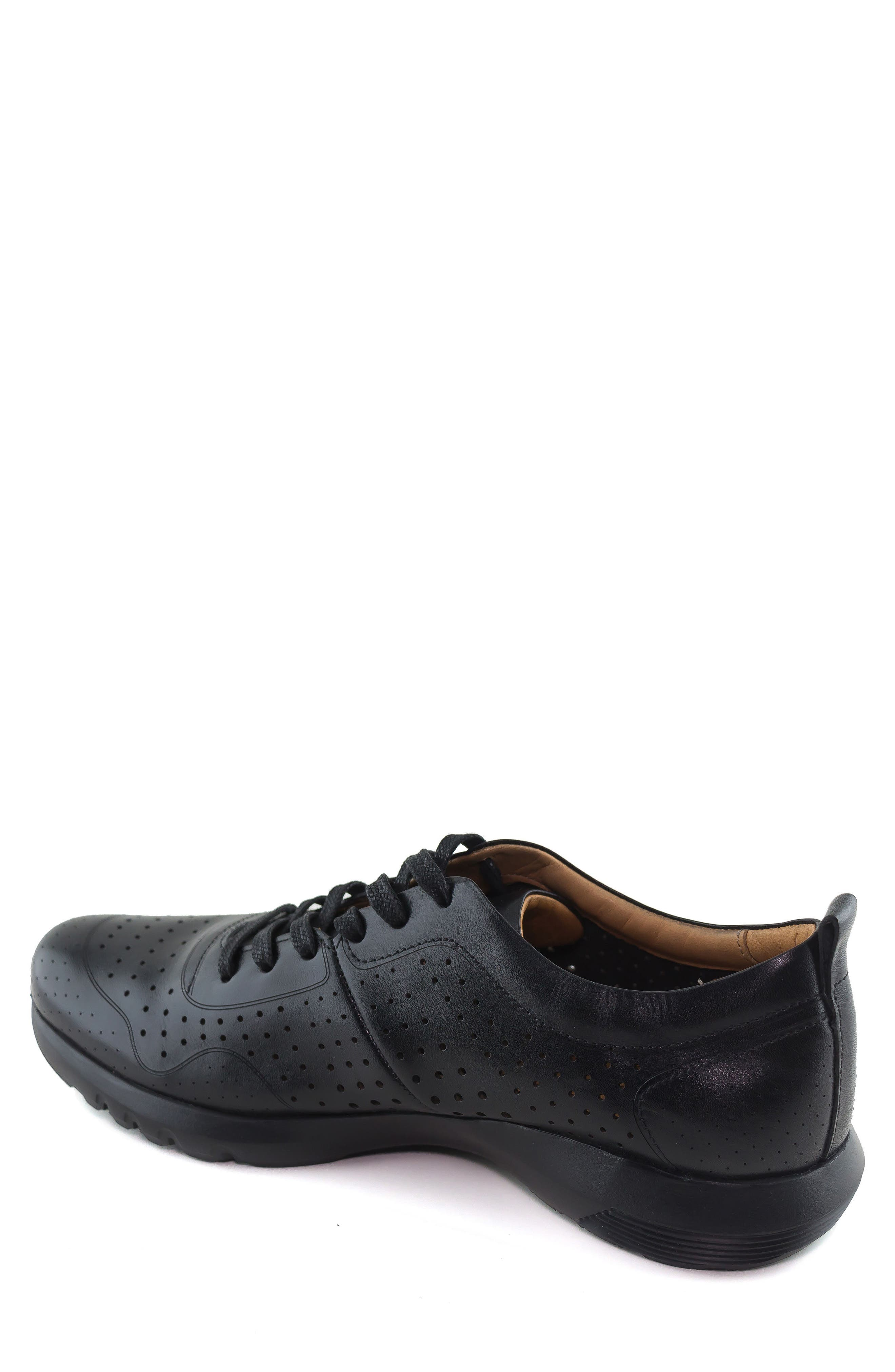 Grand Central Perforated Sneaker,                             Alternate thumbnail 2, color,                             BLACK
