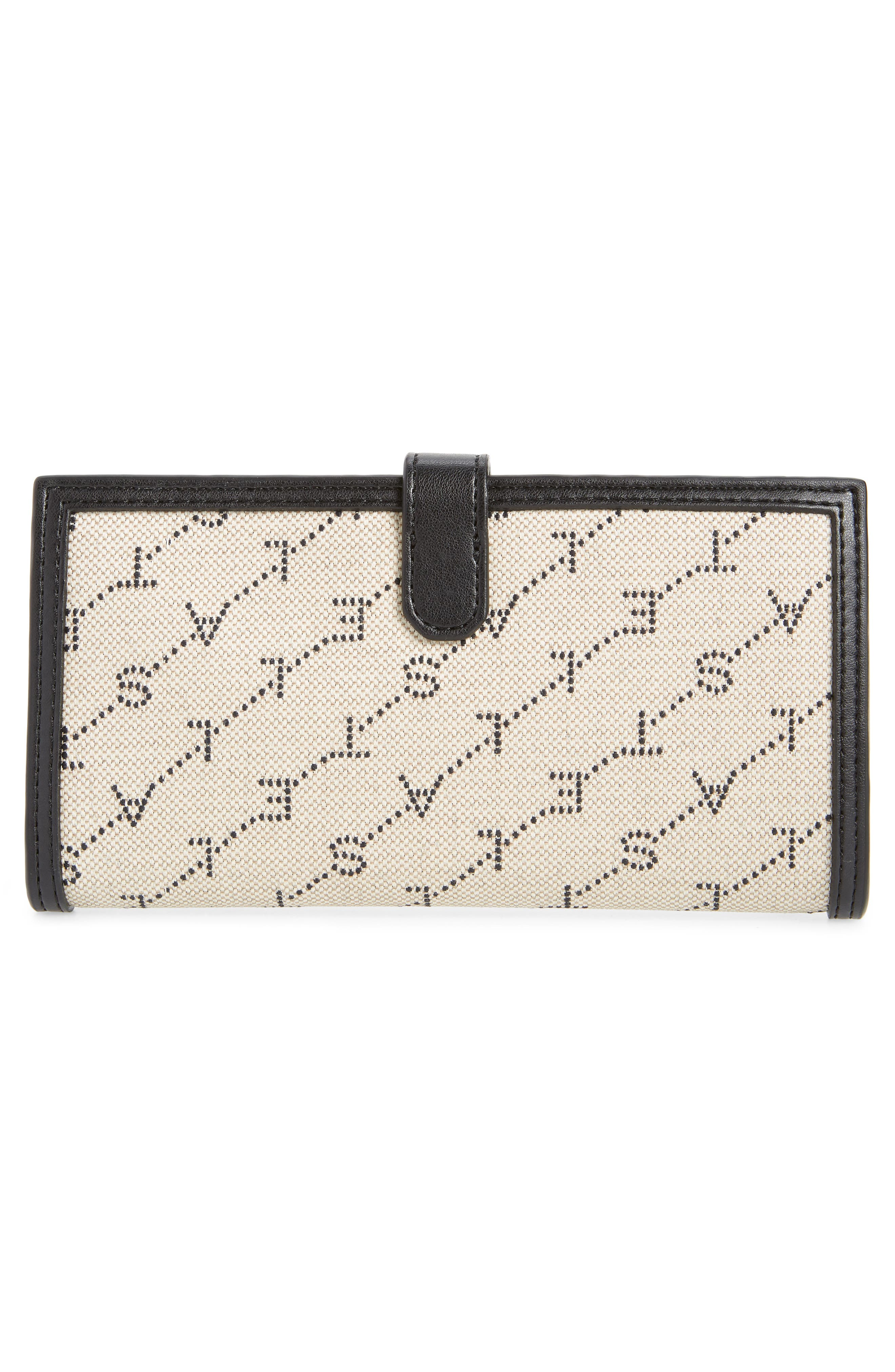 Stitched Logo Continental Wallet,                             Alternate thumbnail 3, color,                             SAND