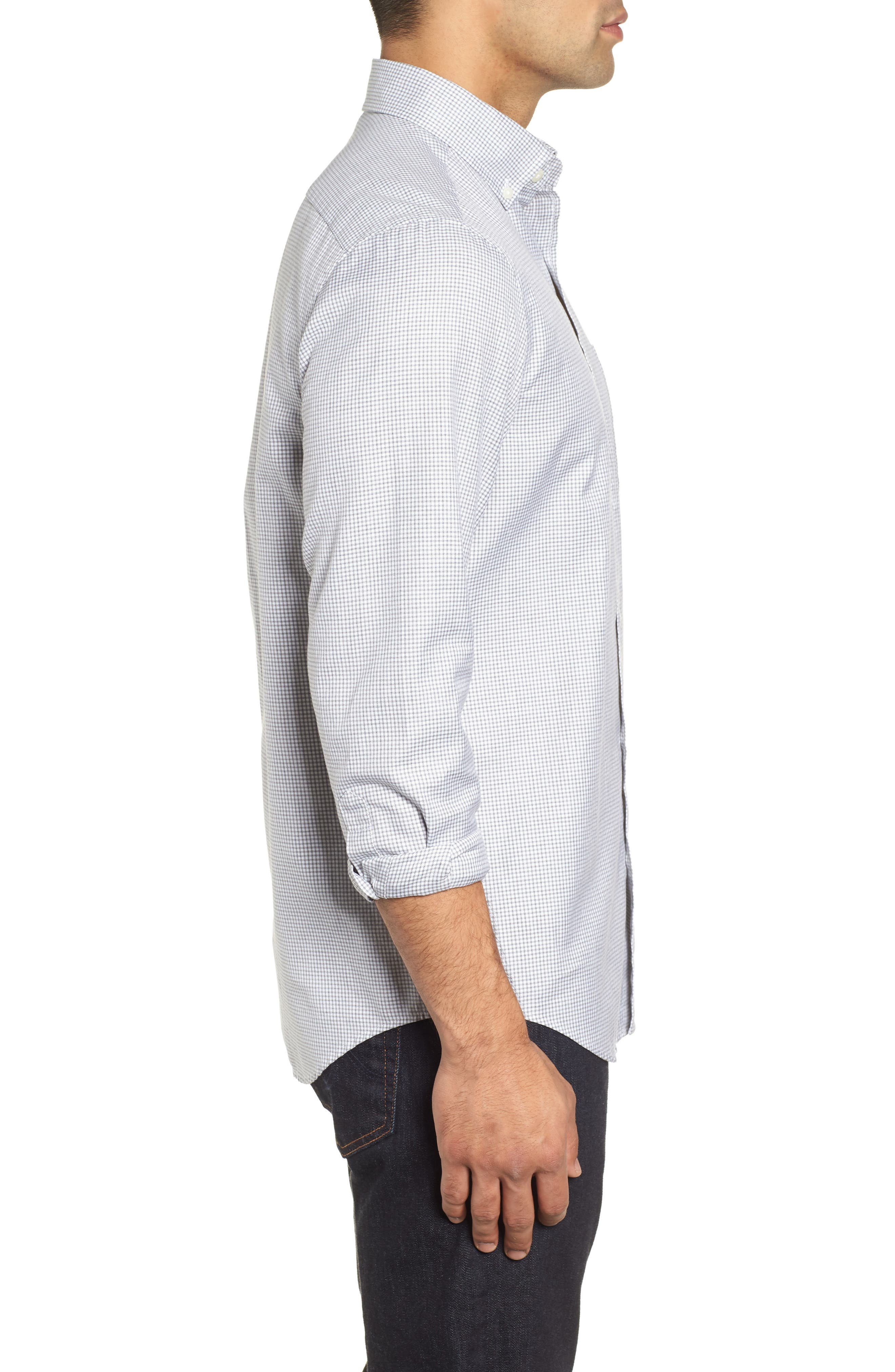 Kettle Cove Regular Fit Gingham Sport Shirt,                             Alternate thumbnail 4, color,                             BARRACUDA