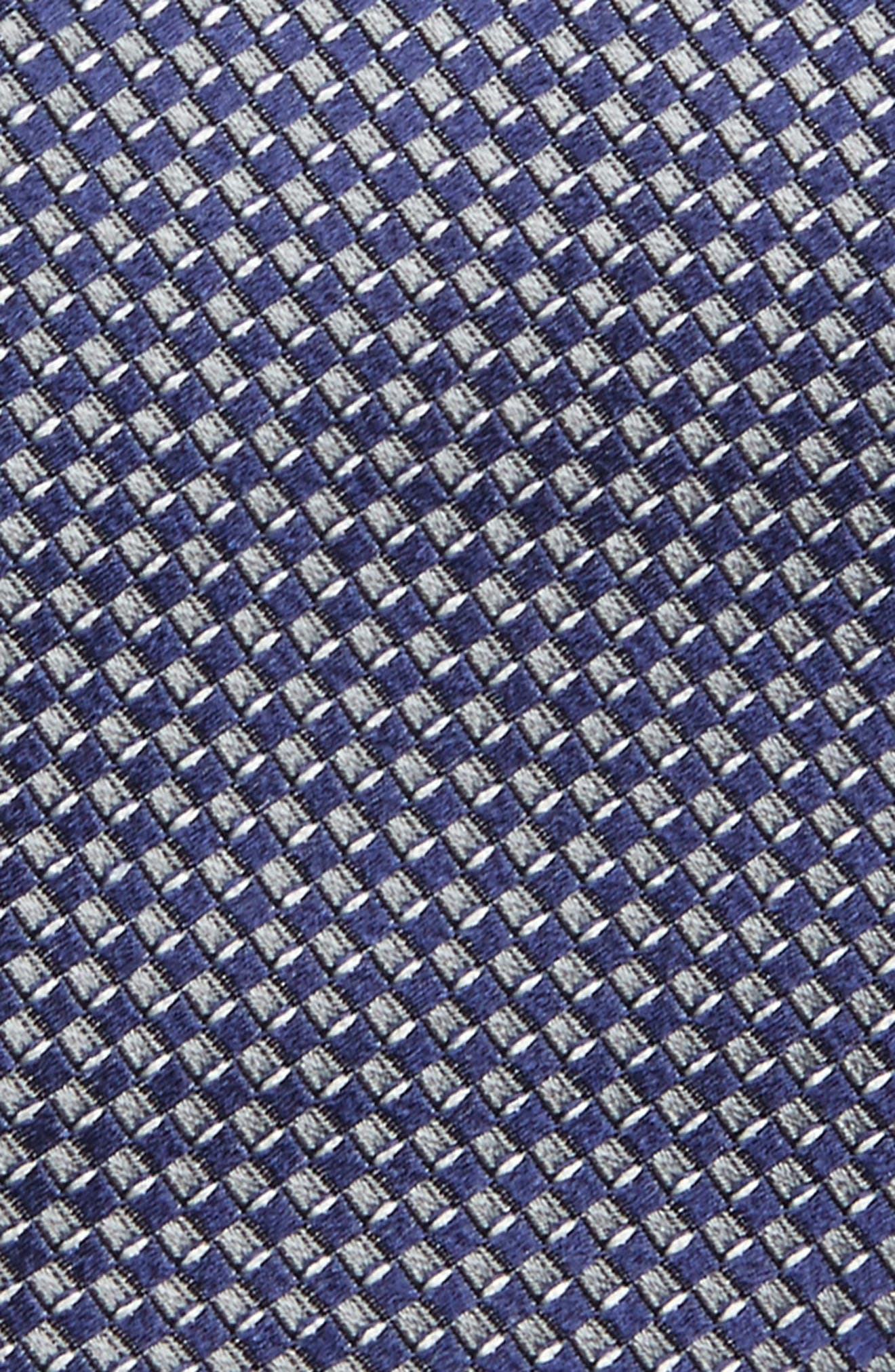 Grid Silk Tie,                             Alternate thumbnail 2, color,                             410