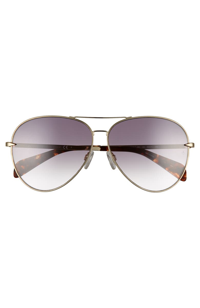 42bd5c65b92f Shop Rag   Bone 63Mm Oversize Aviator Sunglasses - Gold