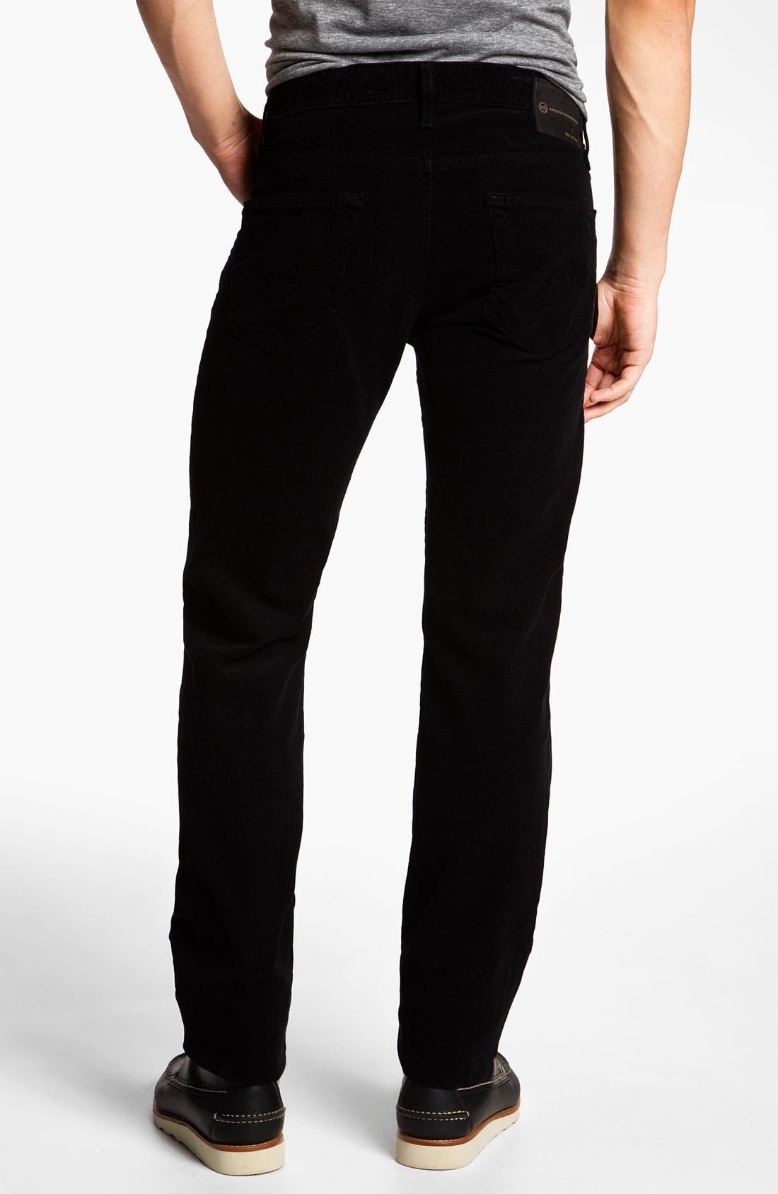 Jeans 'Matchbox' Slim Straight Leg Corduroy Pants,                             Alternate thumbnail 3, color,                             010