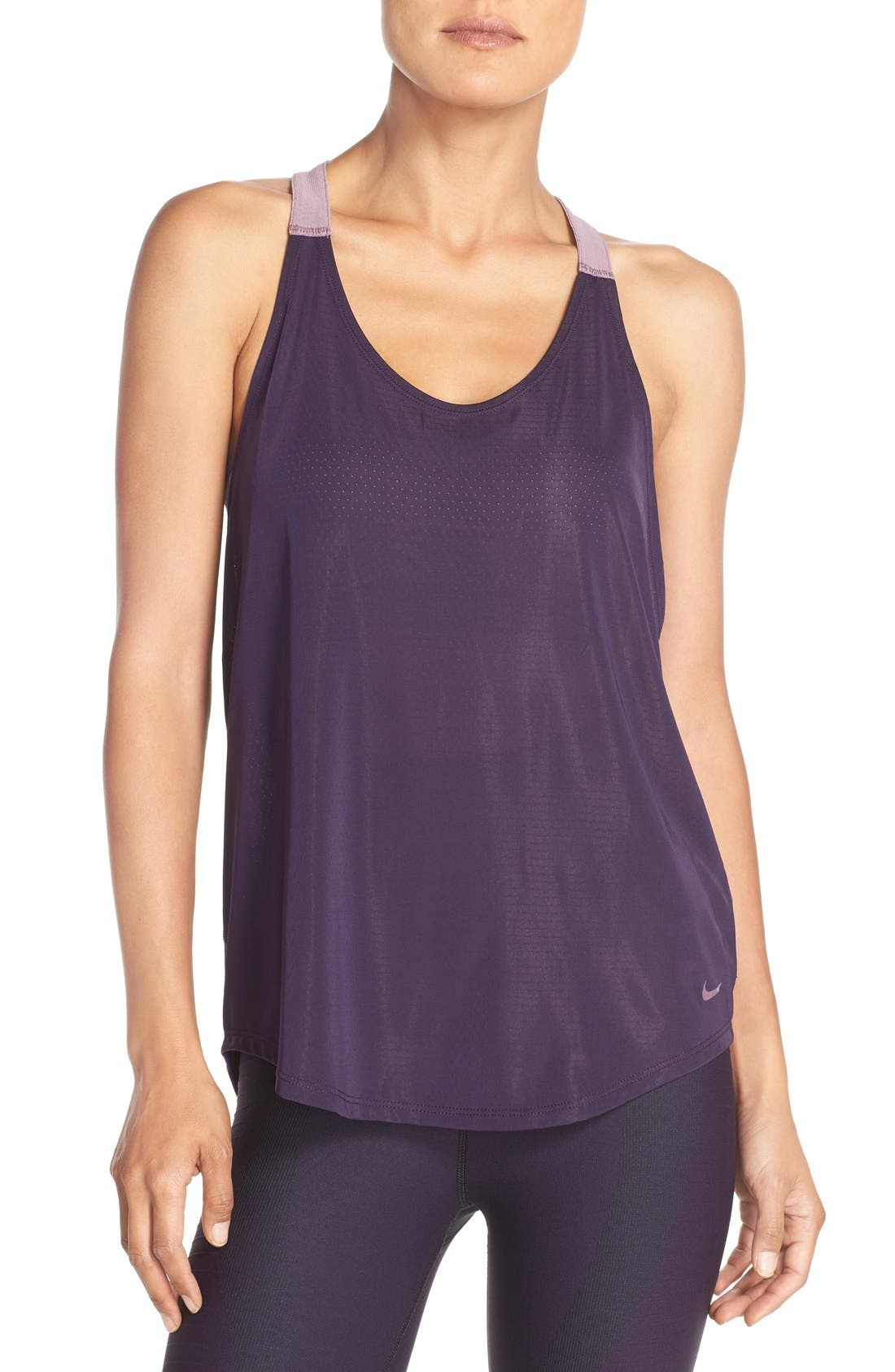 NIKE,                             'Elevate' Racerback Dri-FIT Tank,                             Main thumbnail 1, color,                             524