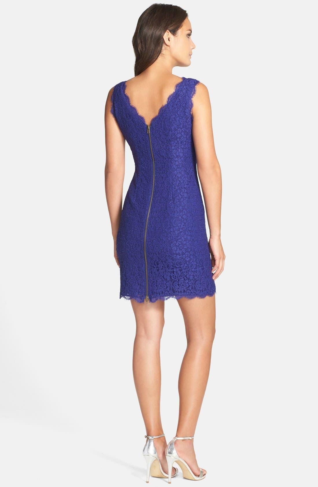 Boatneck Lace Sheath Dress,                             Alternate thumbnail 48, color,