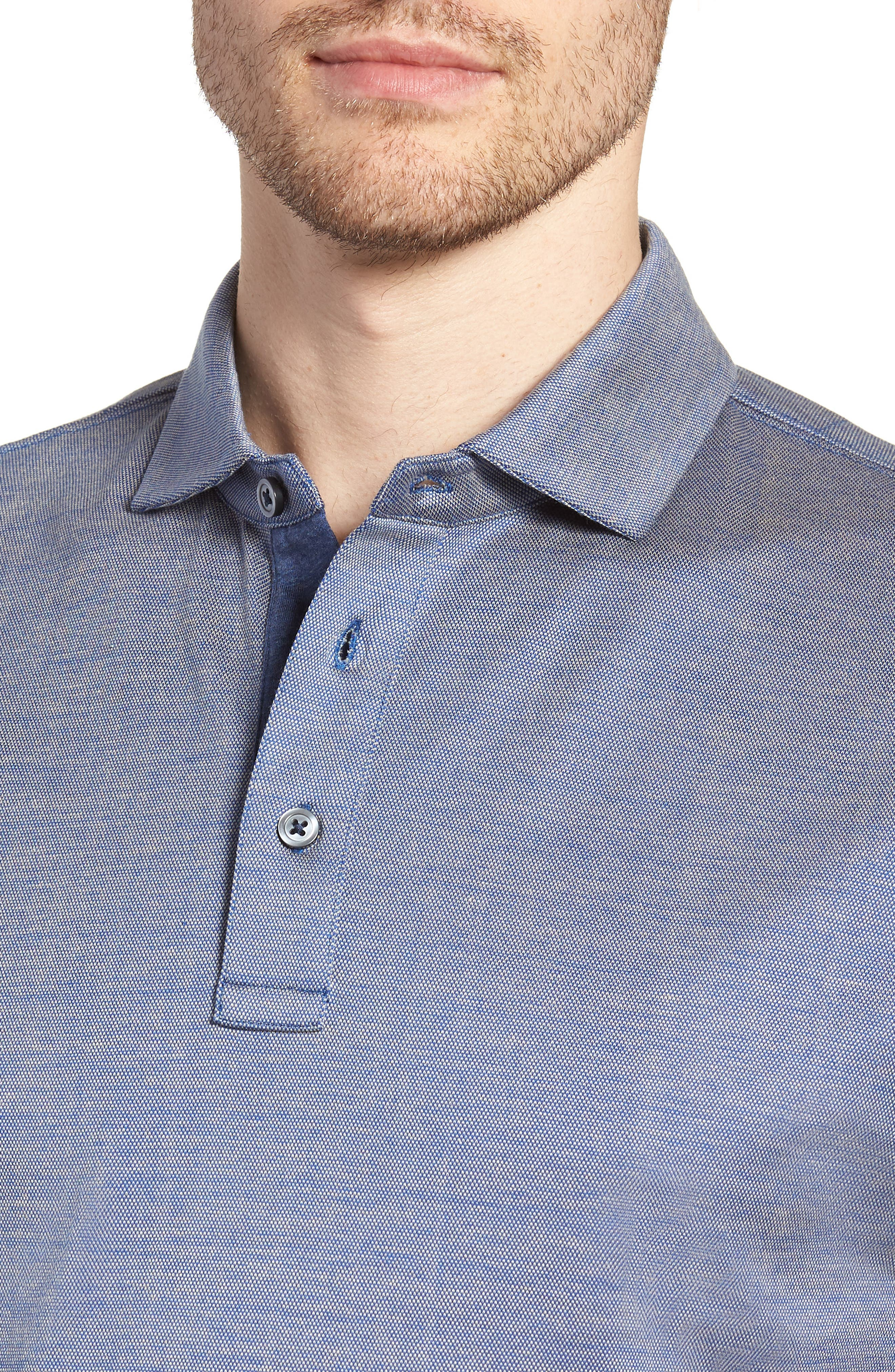 Stony Bay Sports Fit Polo,                             Alternate thumbnail 4, color,                             INDIGO