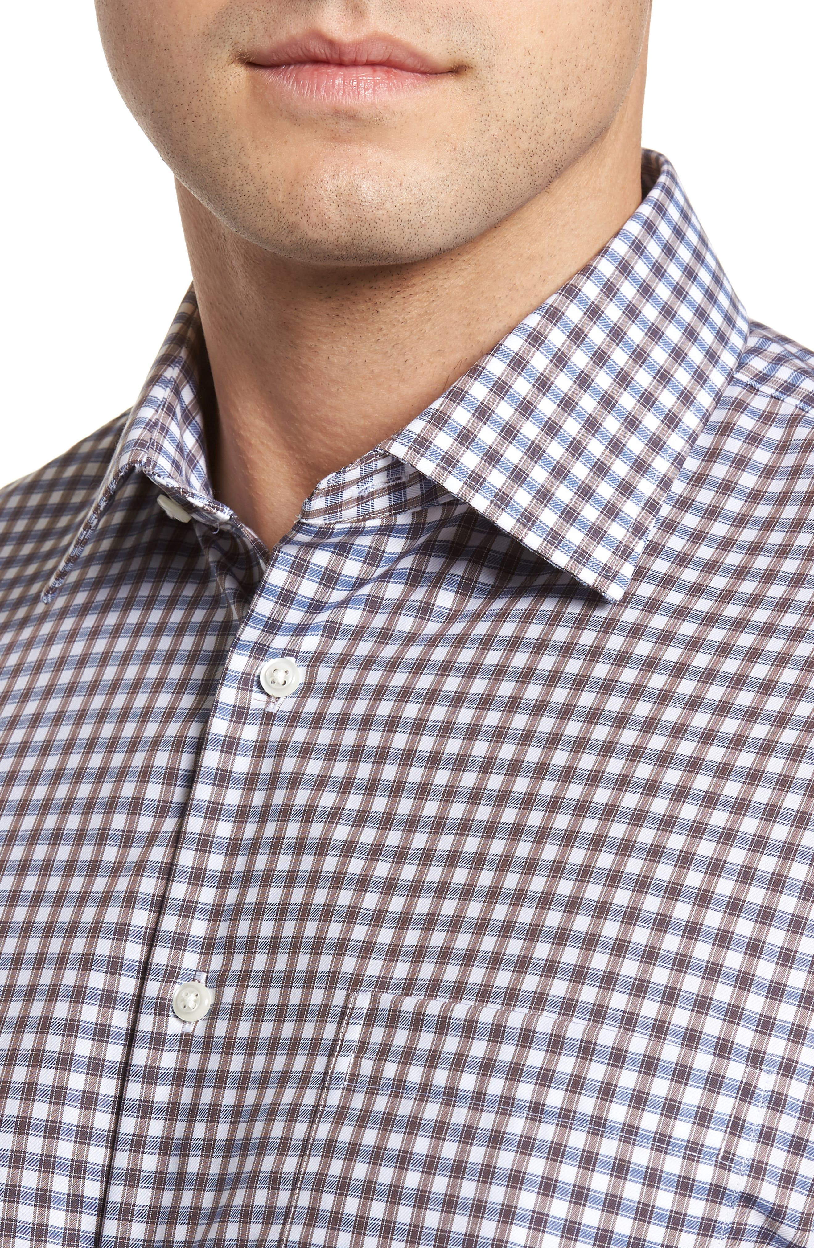 Traditional Fit Non-Iron Check Dress Shirt,                             Alternate thumbnail 2, color,                             210