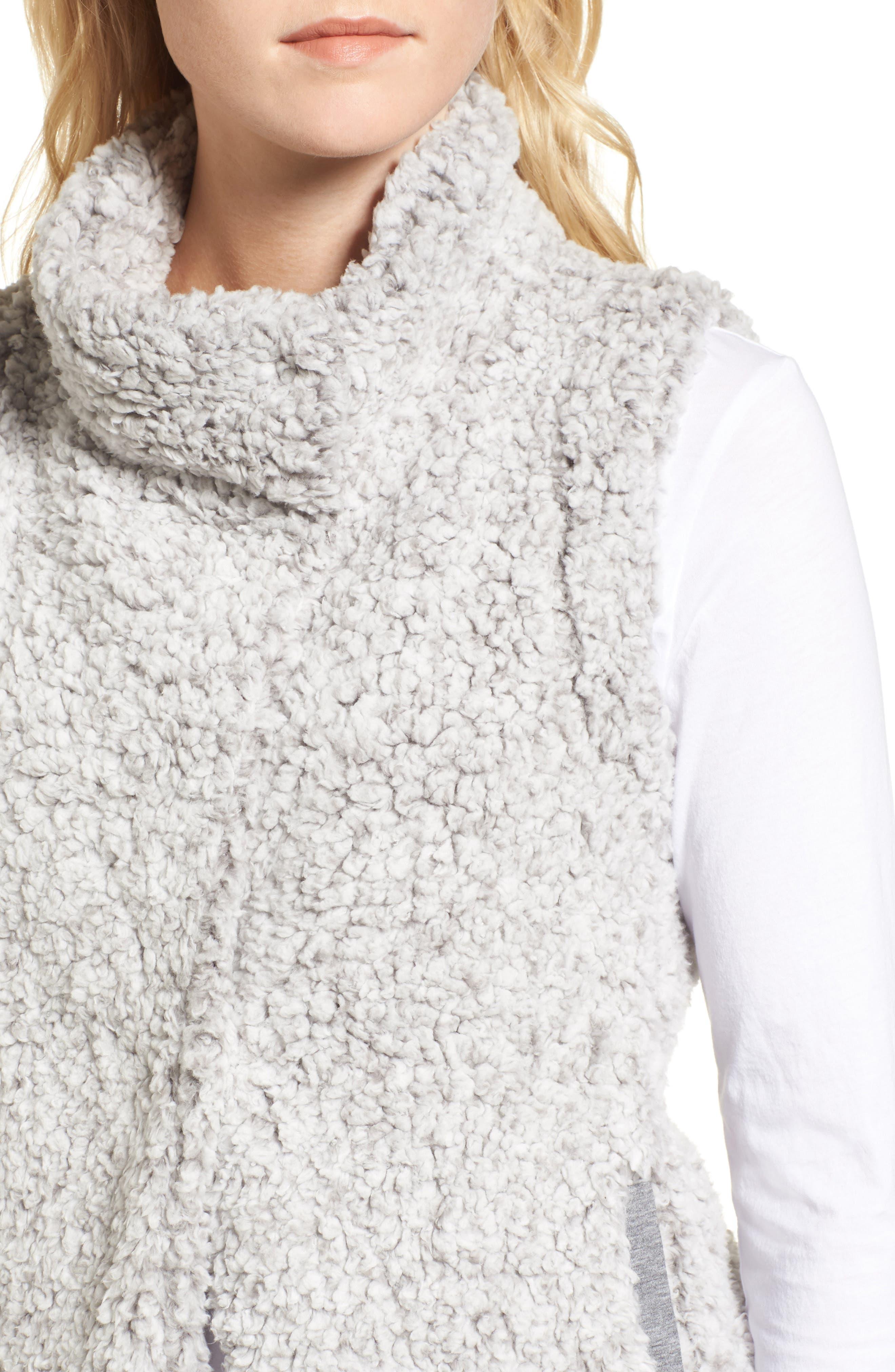 Frosty High Pile Fleece Vest,                             Alternate thumbnail 4, color,                             063