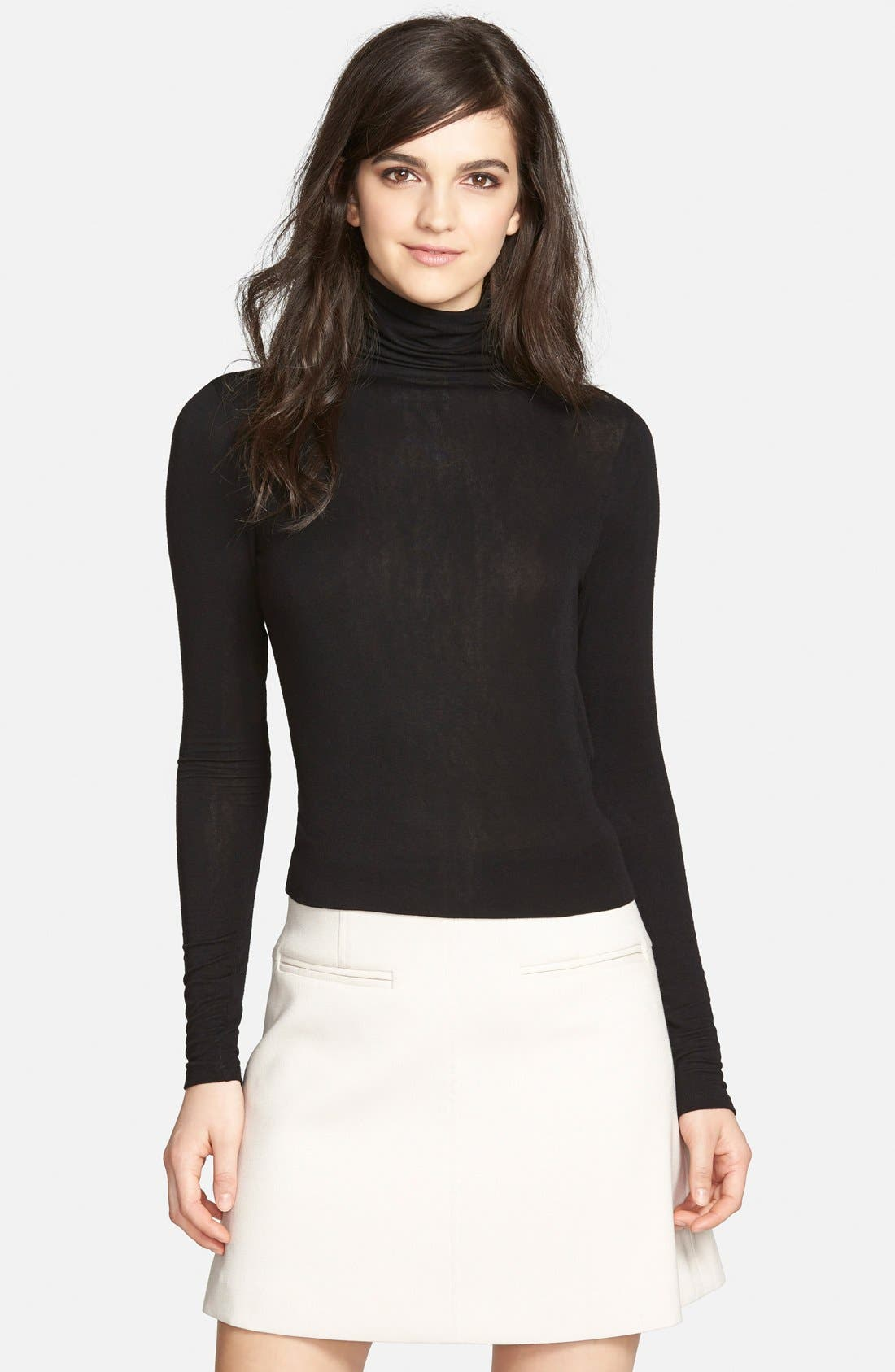 Layering Turtleneck,                         Main,                         color, BLACK