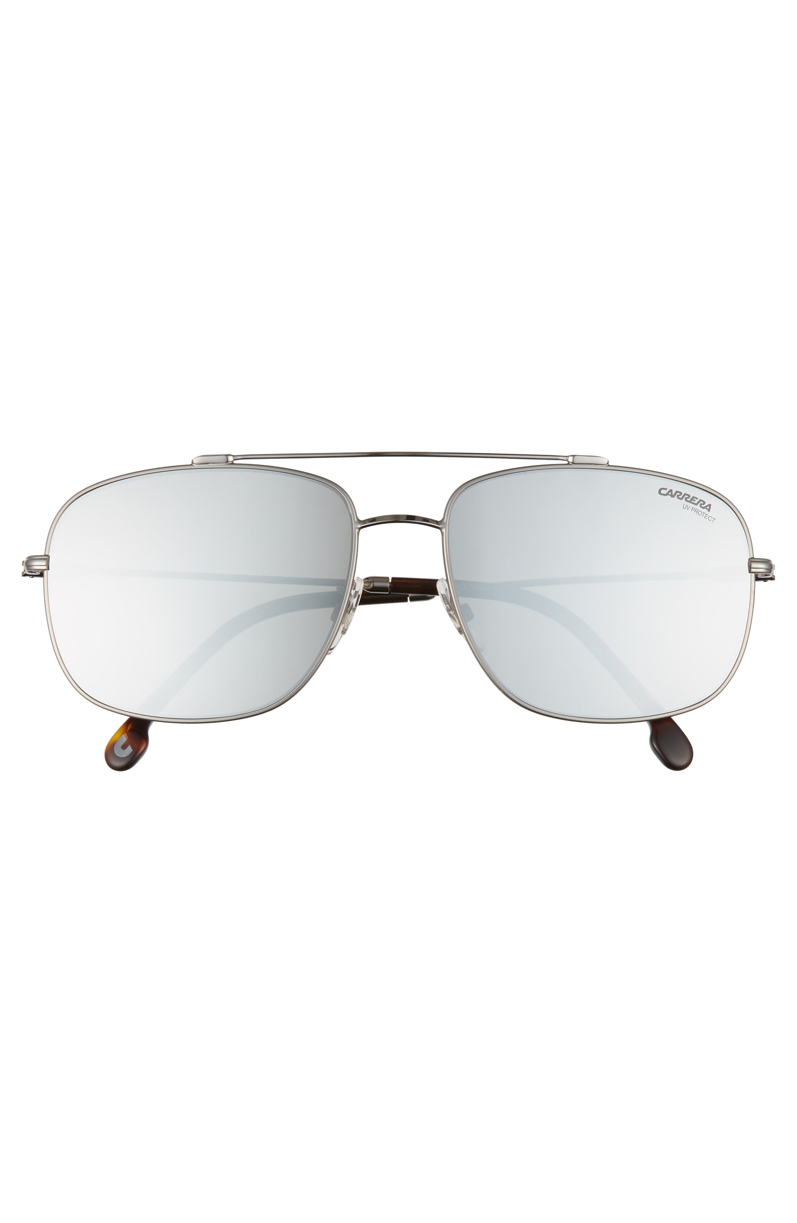 60mm Special Fit Aviator Sunglasses,                             Alternate thumbnail 2, color,                             RUTHENIUM