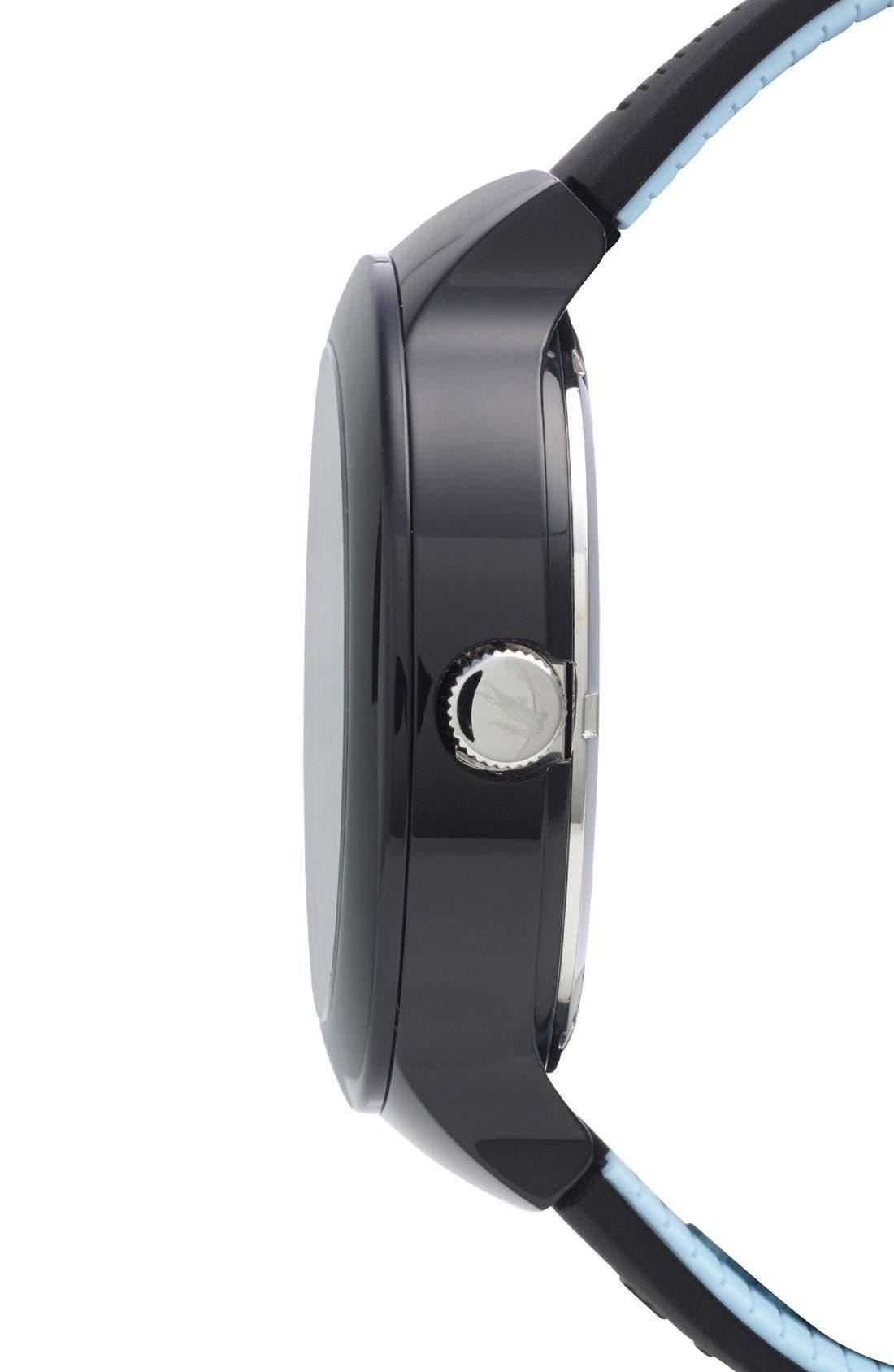 'Boreno' Silicone Strap Watch, 44mm,                             Alternate thumbnail 8, color,