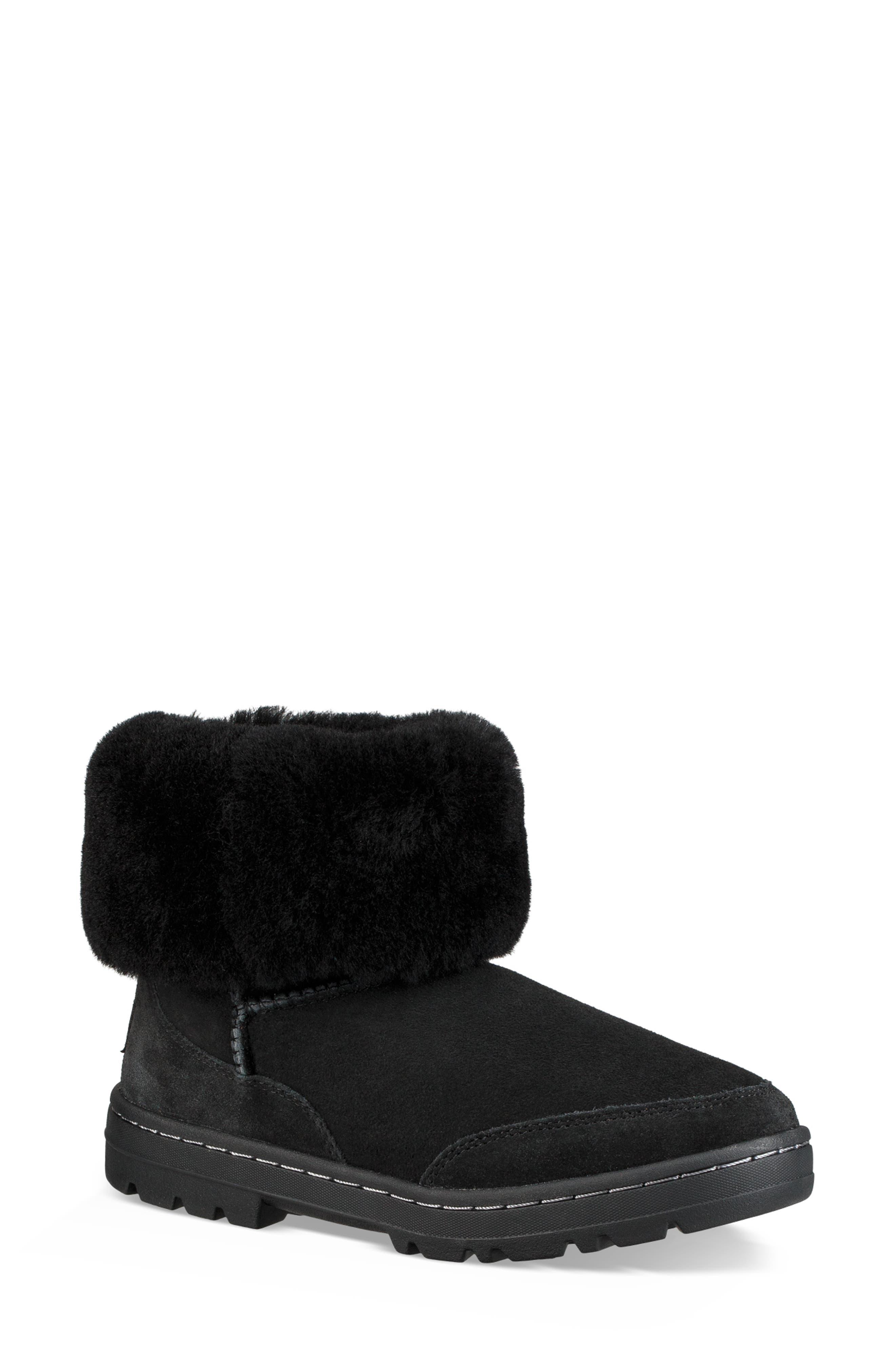 Ultra Revival Genuine Shearling Short Boot,                             Alternate thumbnail 2, color,                             BLACK