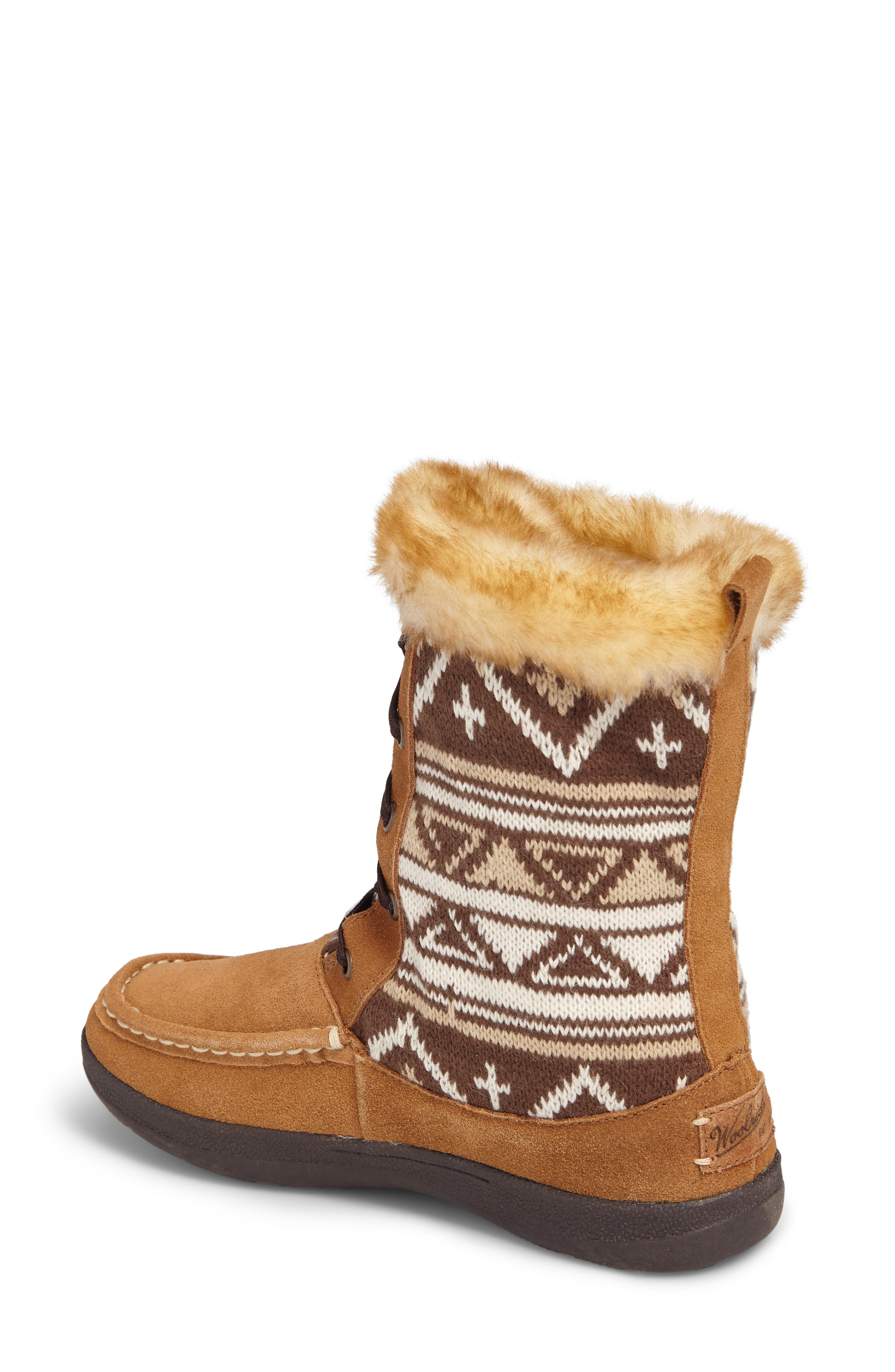 Doe Creek II Faux Fur Trim Boot,                             Alternate thumbnail 6, color,