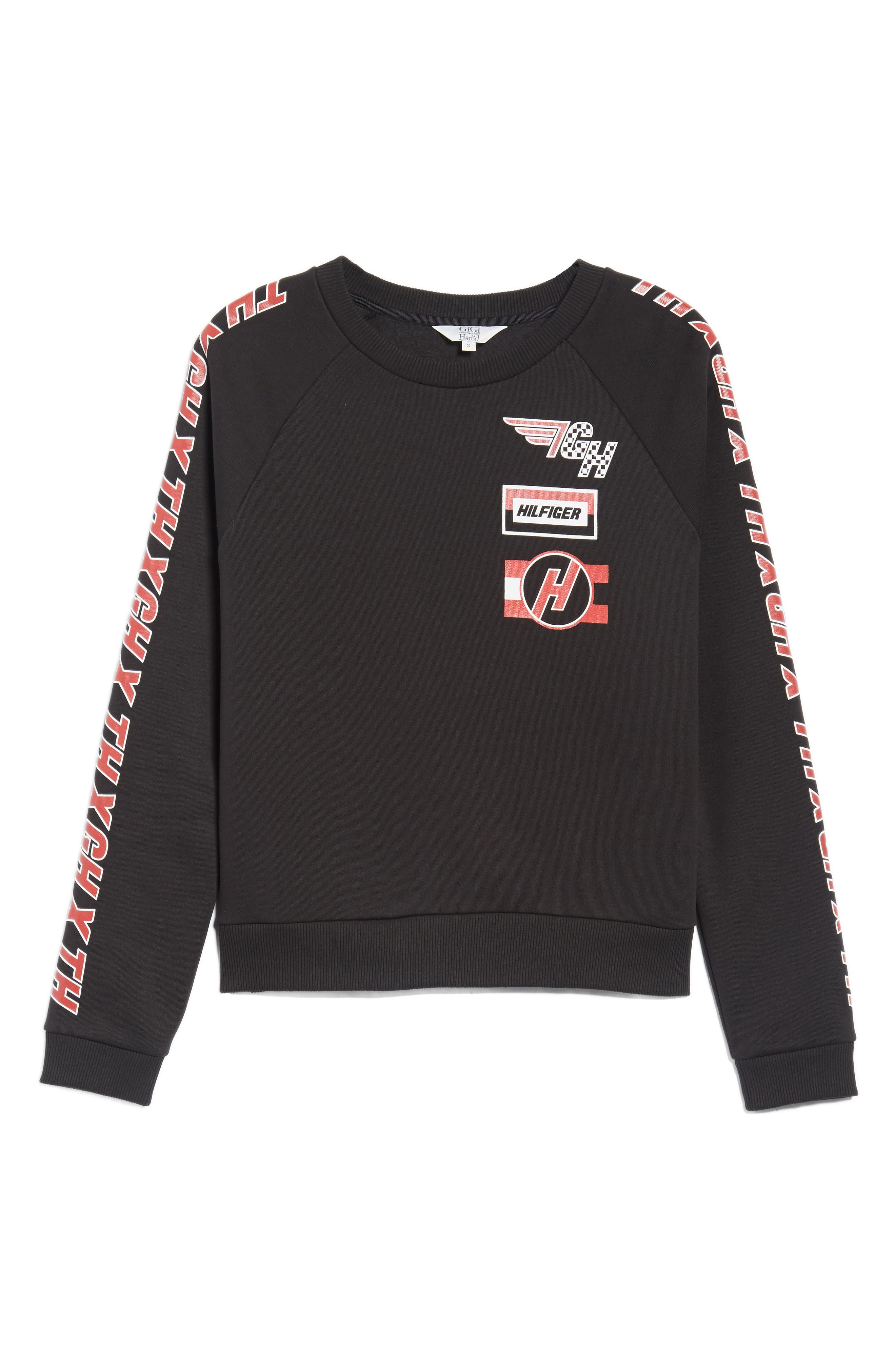 x Gigi Hadid Team Sweatshirt,                             Alternate thumbnail 7, color,                             004