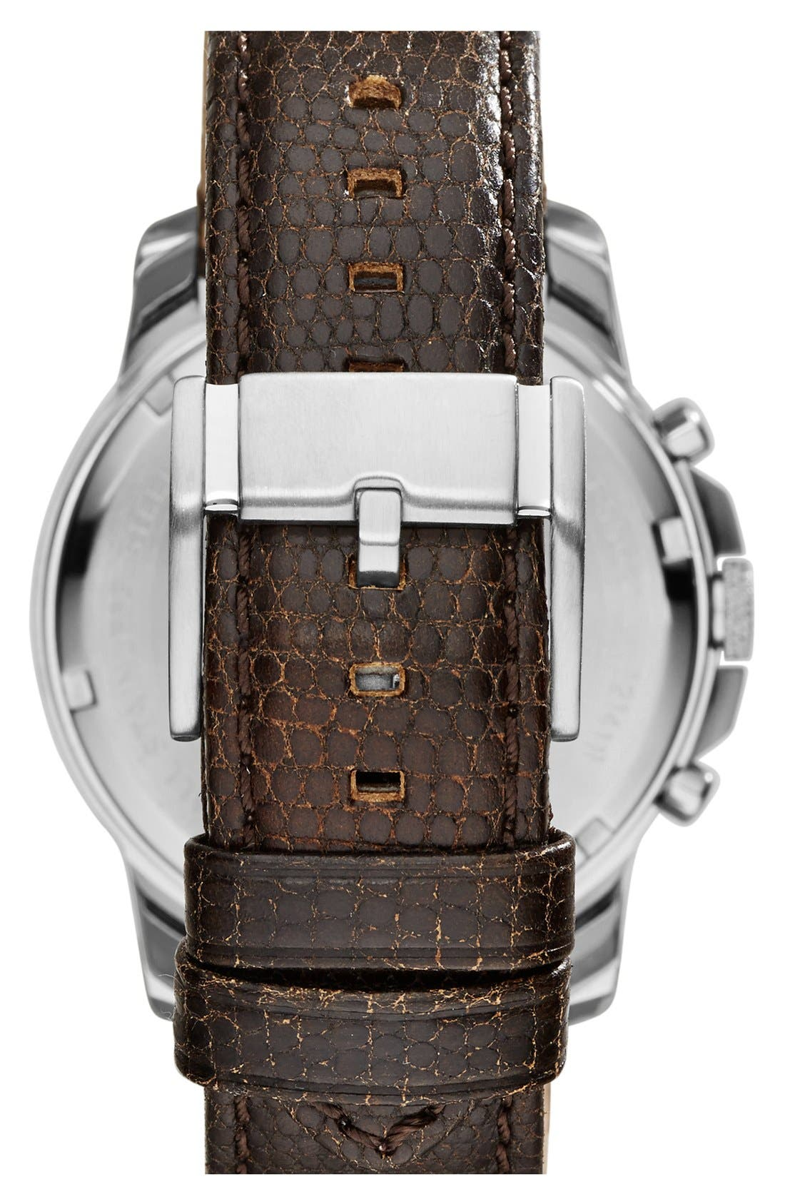 'Grant' Round Chronograph Leather Strap Watch, 44mm,                             Alternate thumbnail 74, color,