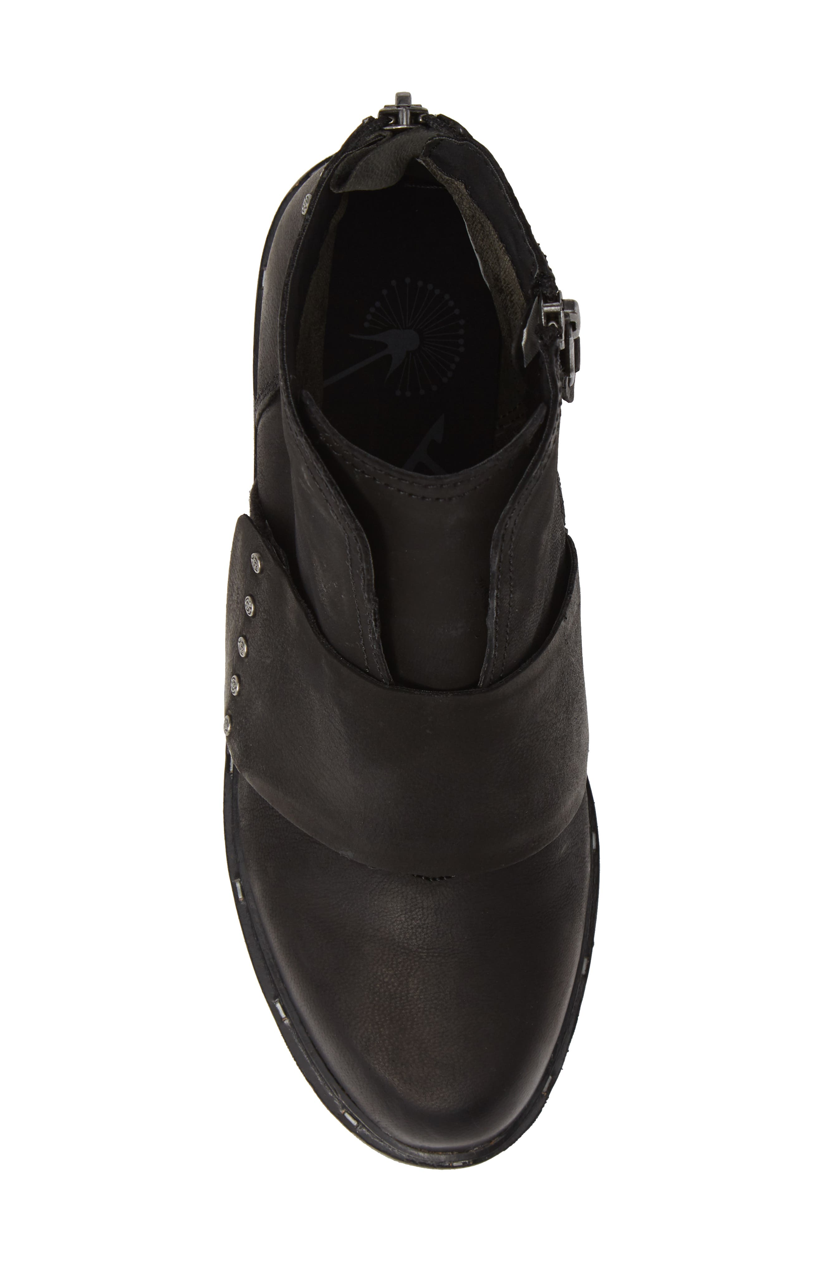 Frontage Bootie,                             Alternate thumbnail 5, color,                             BLACK LEATHER