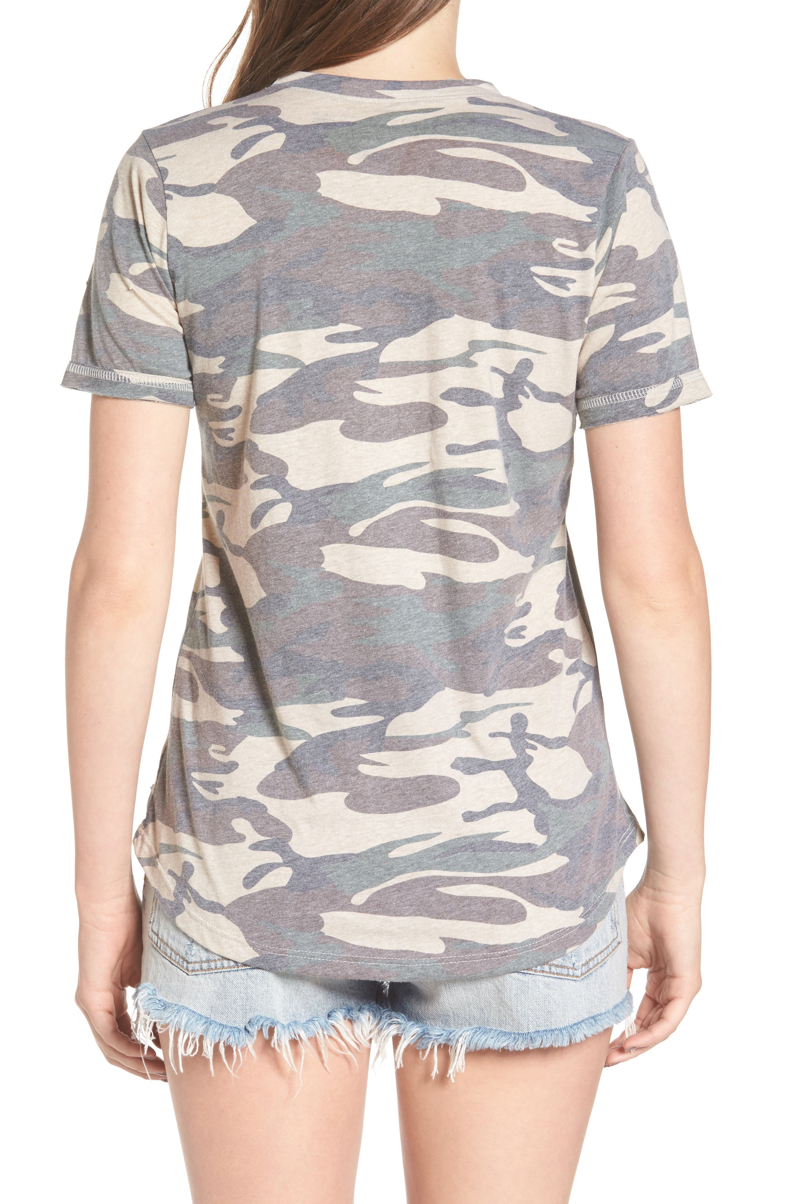Distressed Camo Tee,                             Alternate thumbnail 2, color,                             300