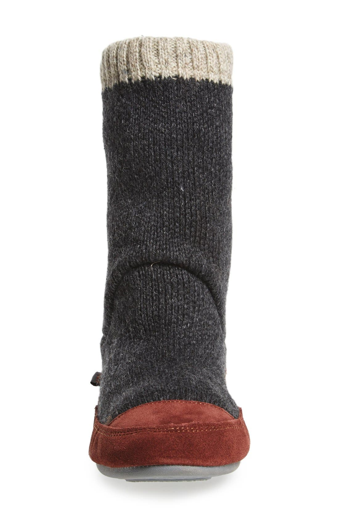 'Slouch Boot' Slipper,                             Alternate thumbnail 4, color,                             CHARCOAL RAGG WOOL