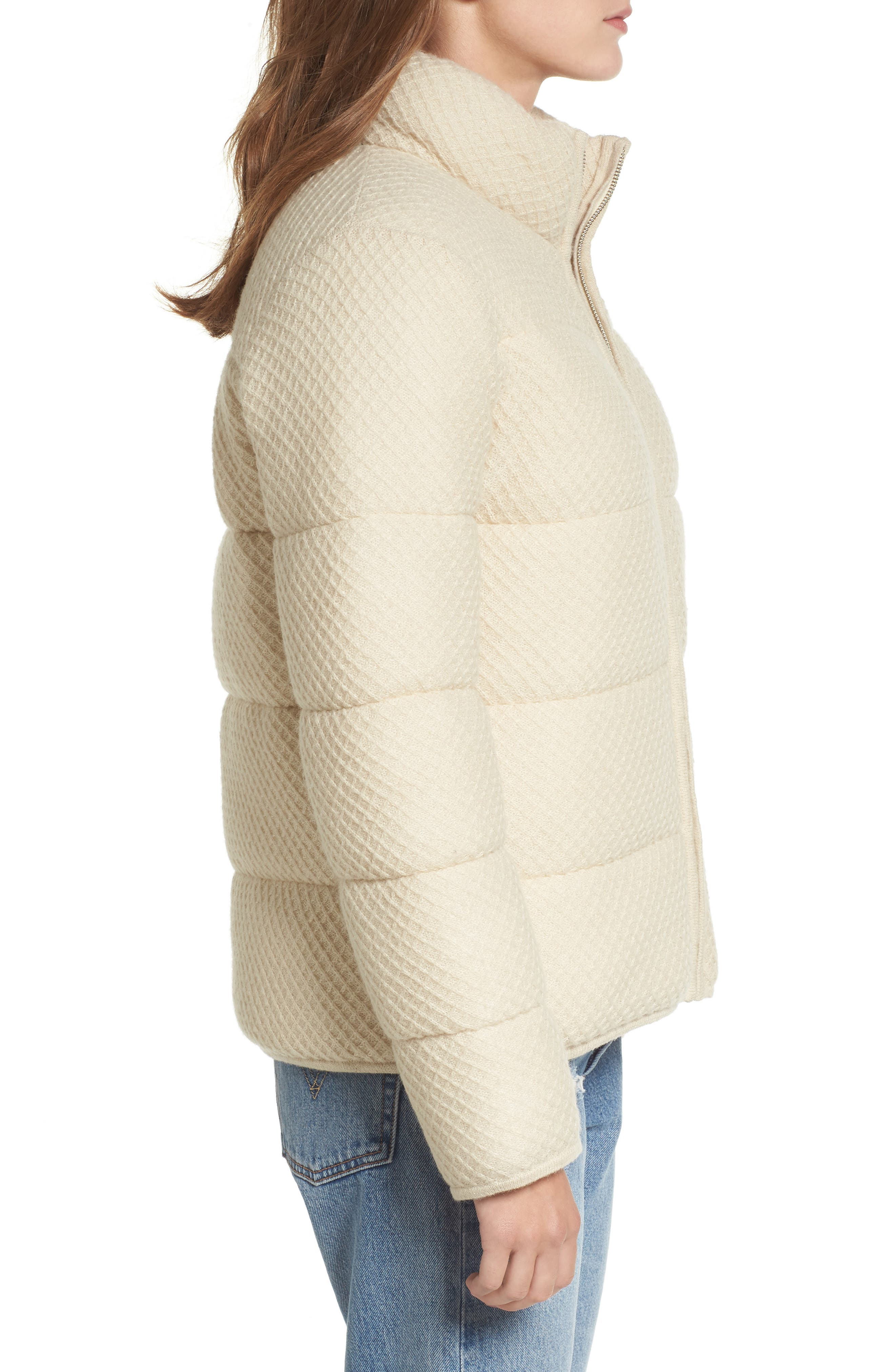 Knit Puffer Jacket,                             Alternate thumbnail 3, color,                             900