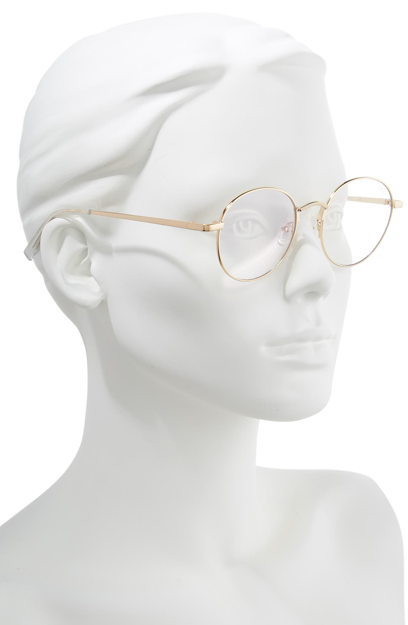 I See You 49mm Round Fashion Glasses,                             Alternate thumbnail 2, color,                             GOLD/ CLEAR