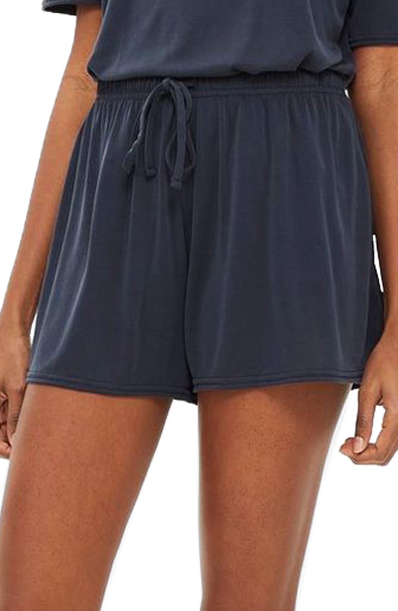 Lounge Shorts,                         Main,                         color, NAVY BLUE