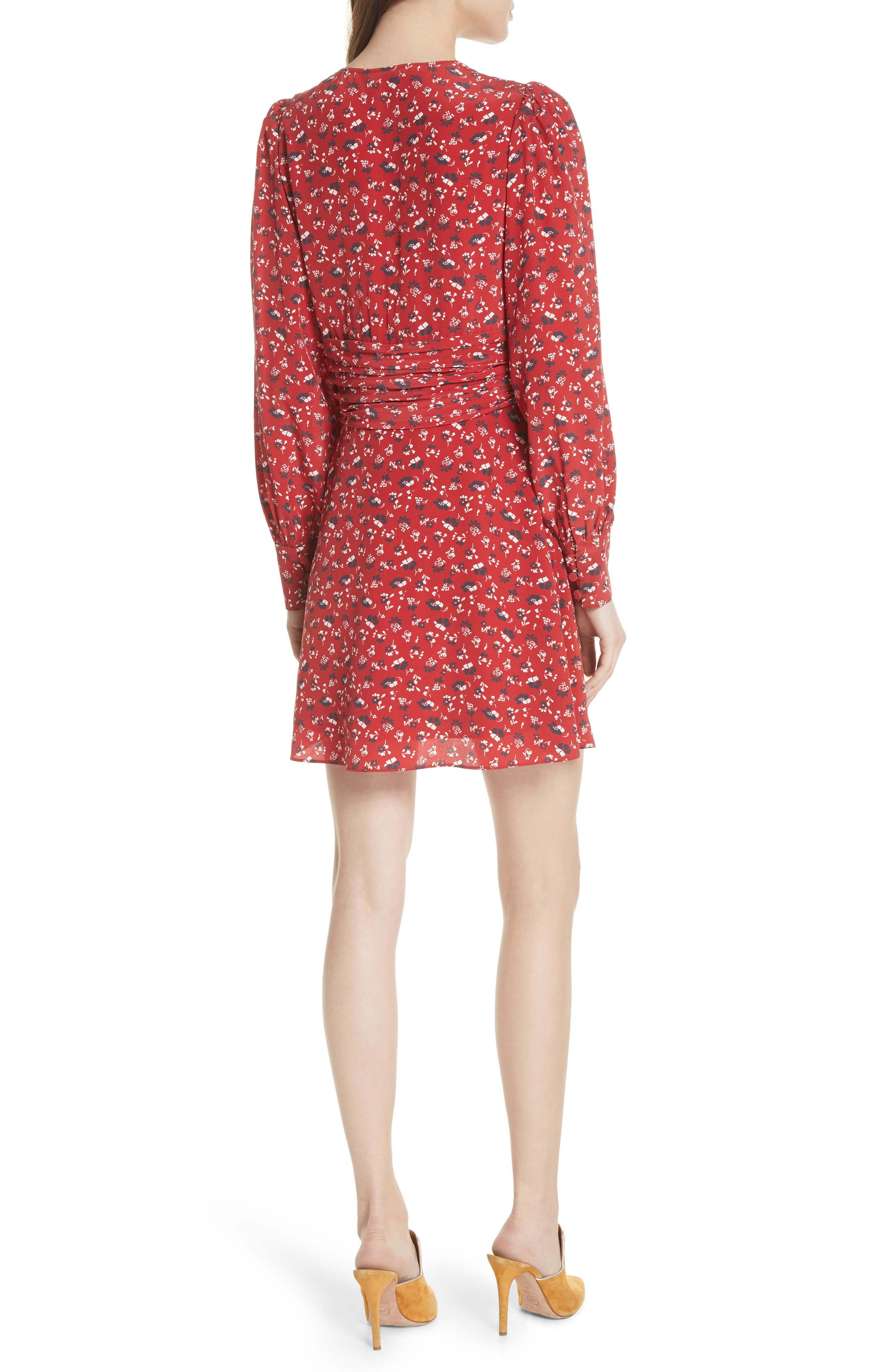 Marion Silk Dress,                             Alternate thumbnail 2, color,                             640