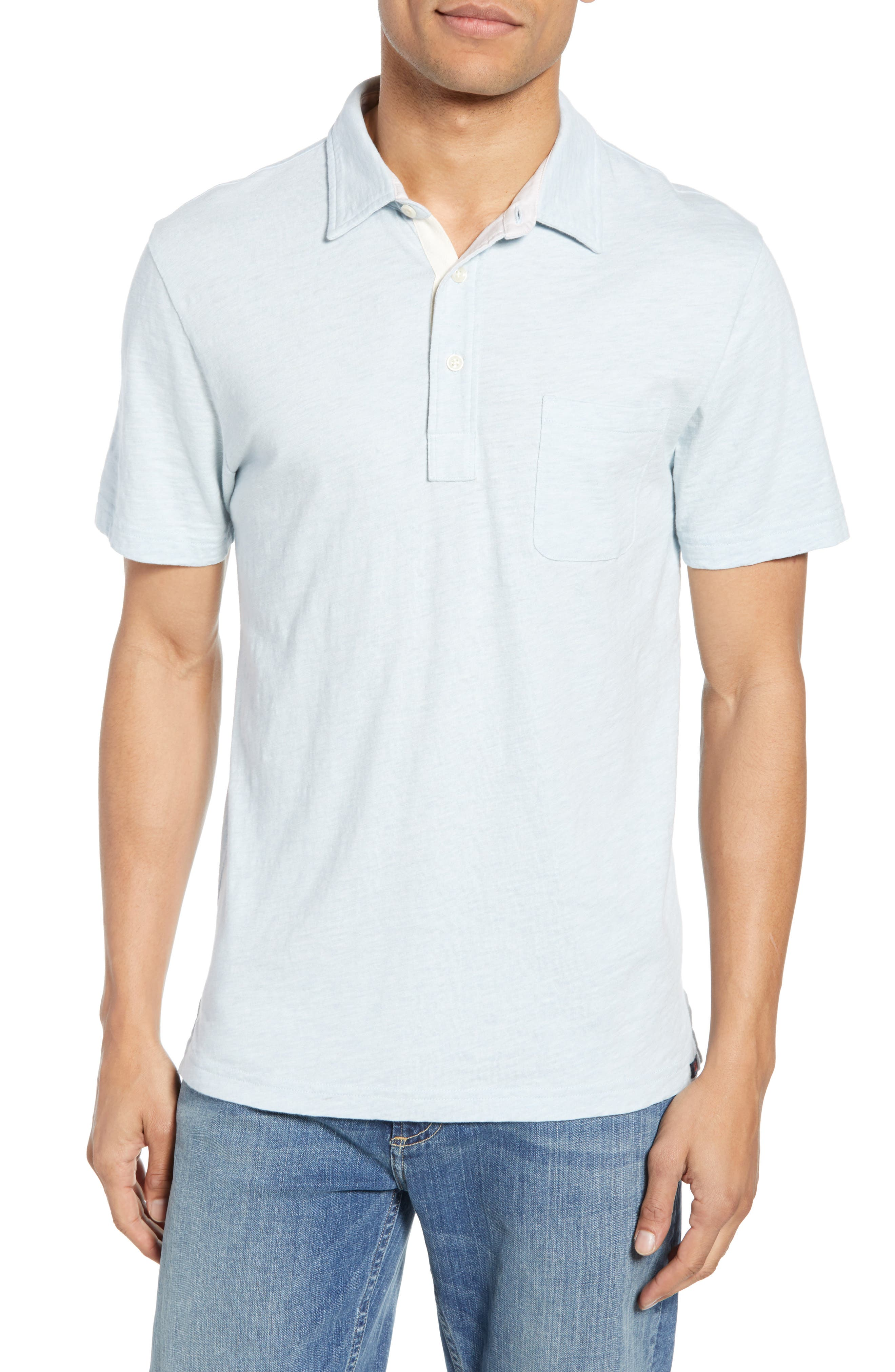 Faherty Bliss Regular Fit Polo, Blue