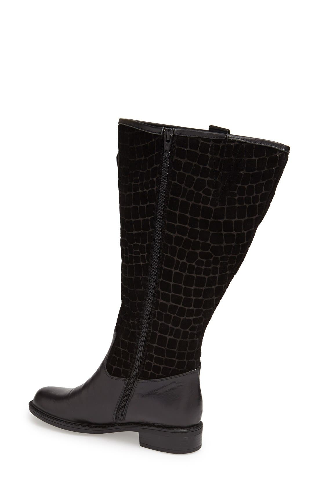 'Best' Calfskin Leather & Suede Boot,                             Alternate thumbnail 17, color,