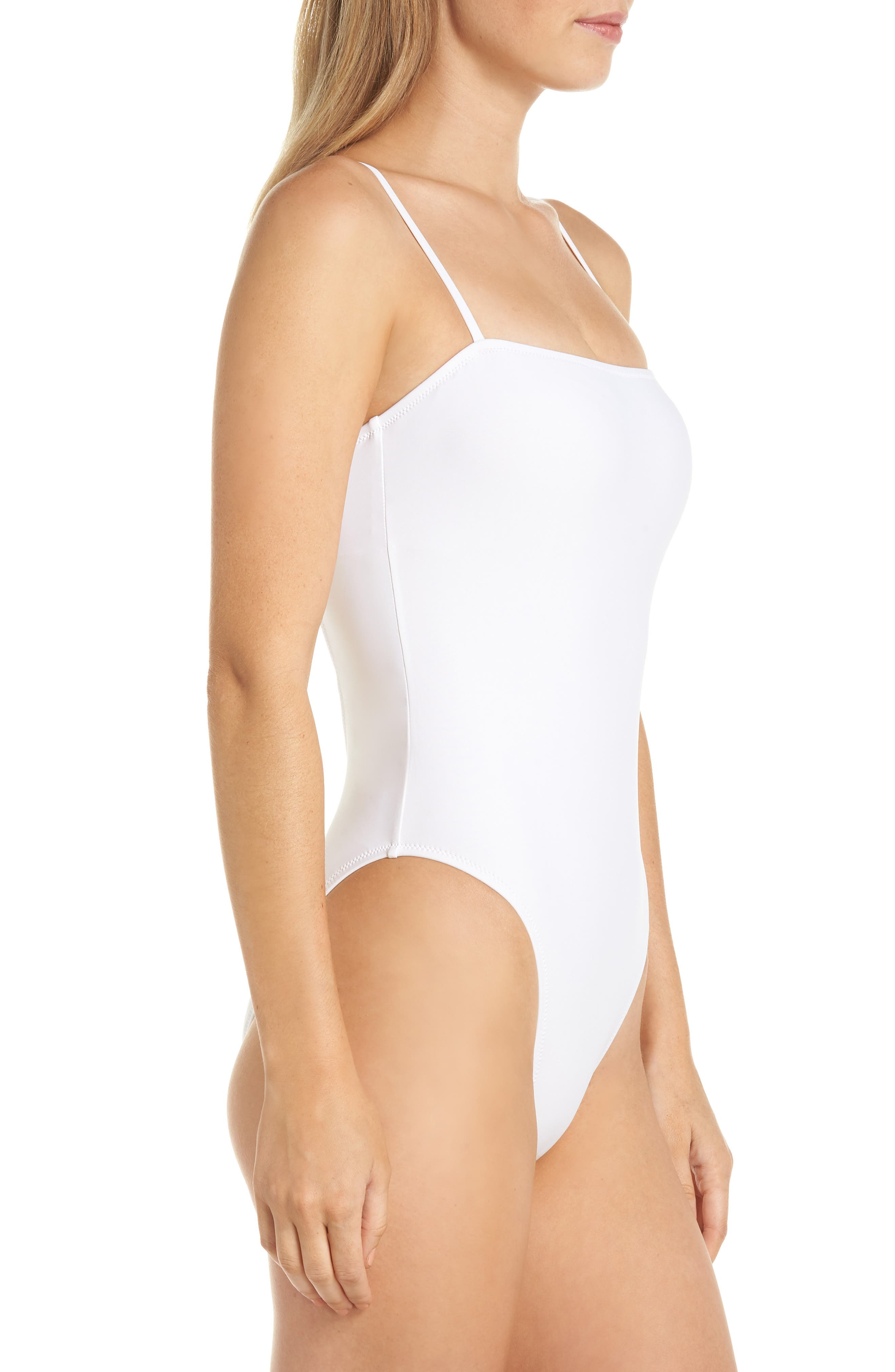 Maggie Baby Bow Back One-Piece Swimsuit,                             Alternate thumbnail 3, color,                             WHITE