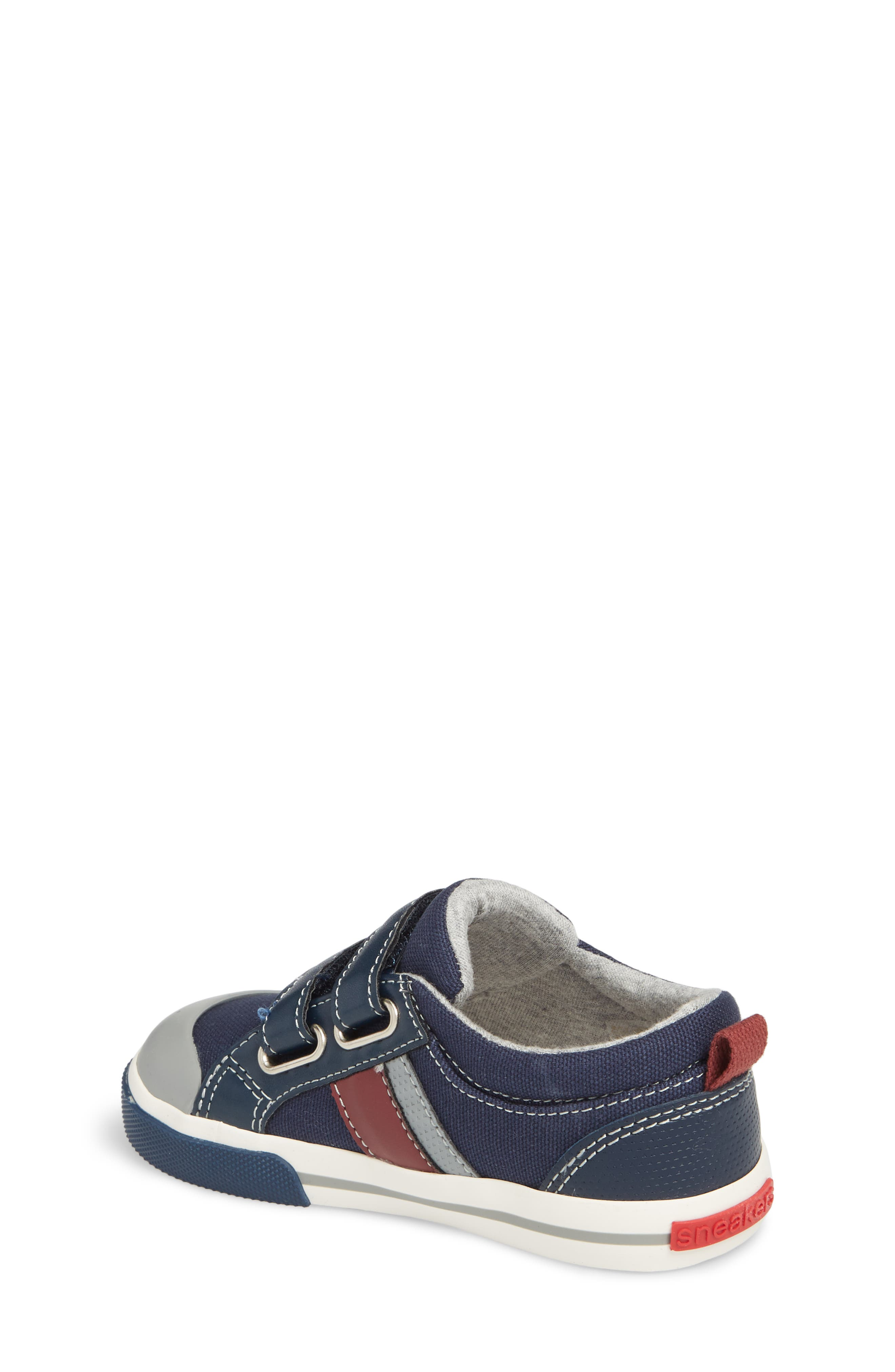 'Russell' Sneaker,                             Alternate thumbnail 2, color,                             NAVY/ RED