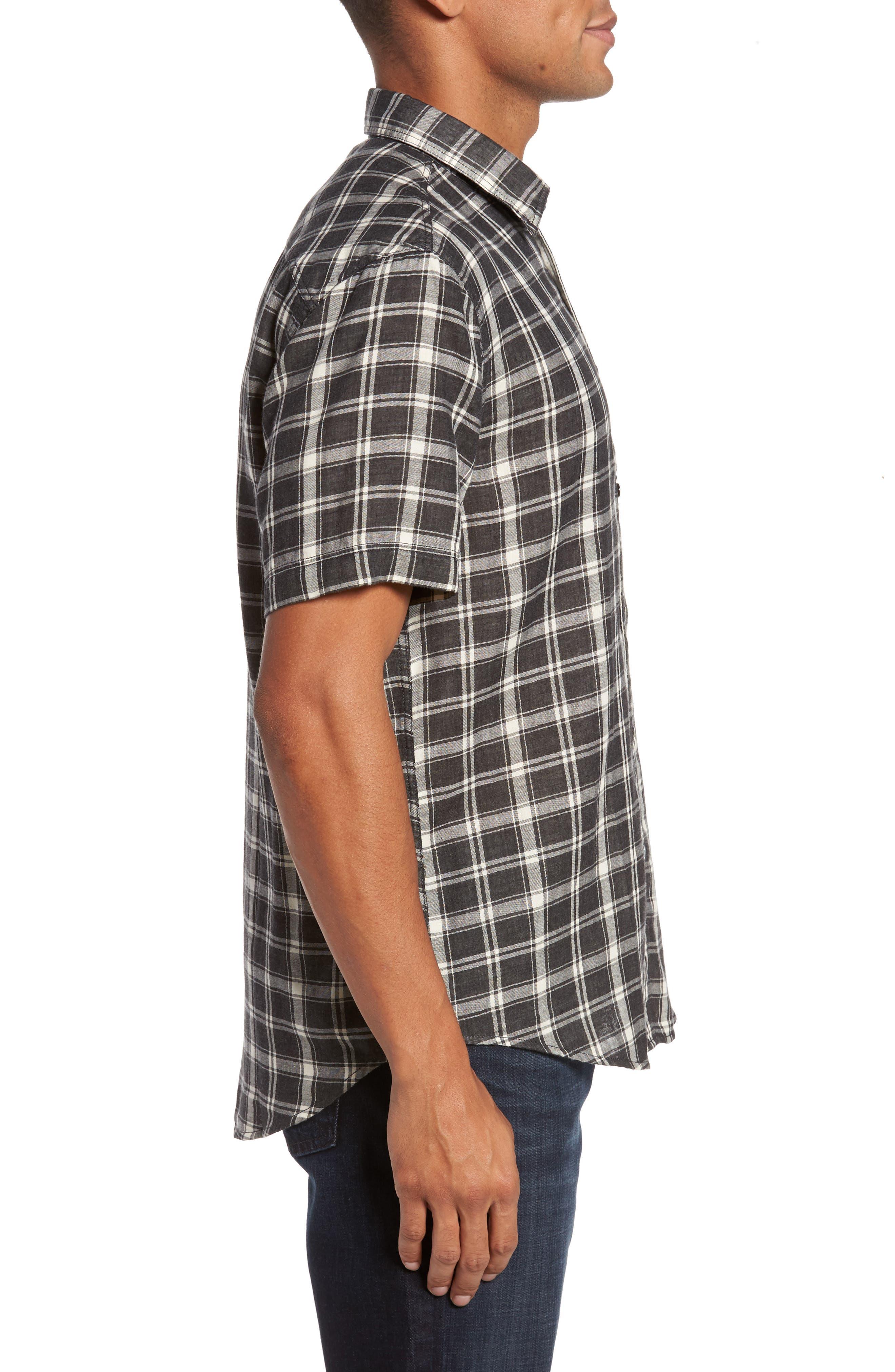 Hansen Regular Fit Plaid Sport Shirt,                             Alternate thumbnail 3, color,                             010