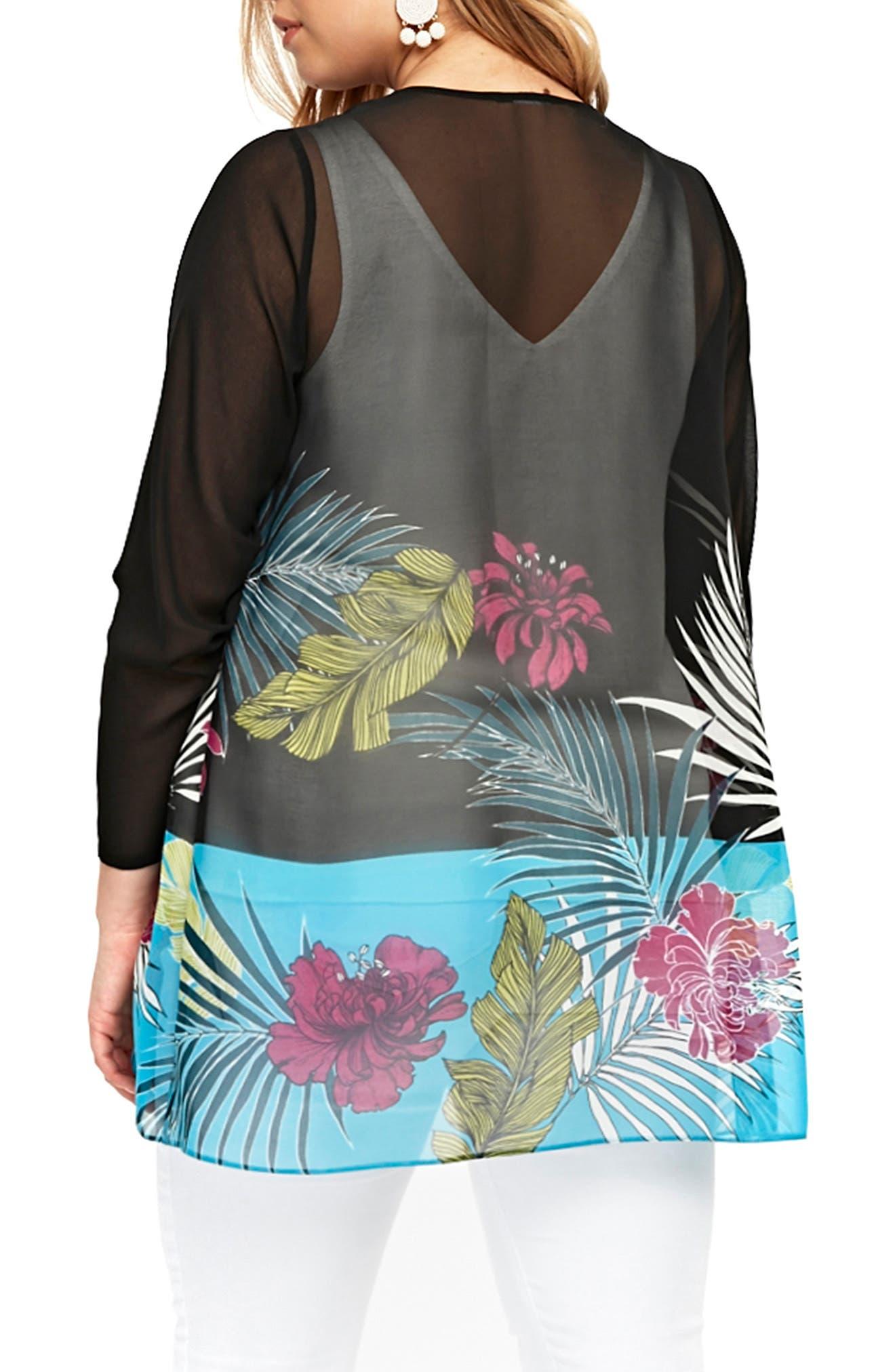 Tropical Kimono,                             Alternate thumbnail 2, color,                             001
