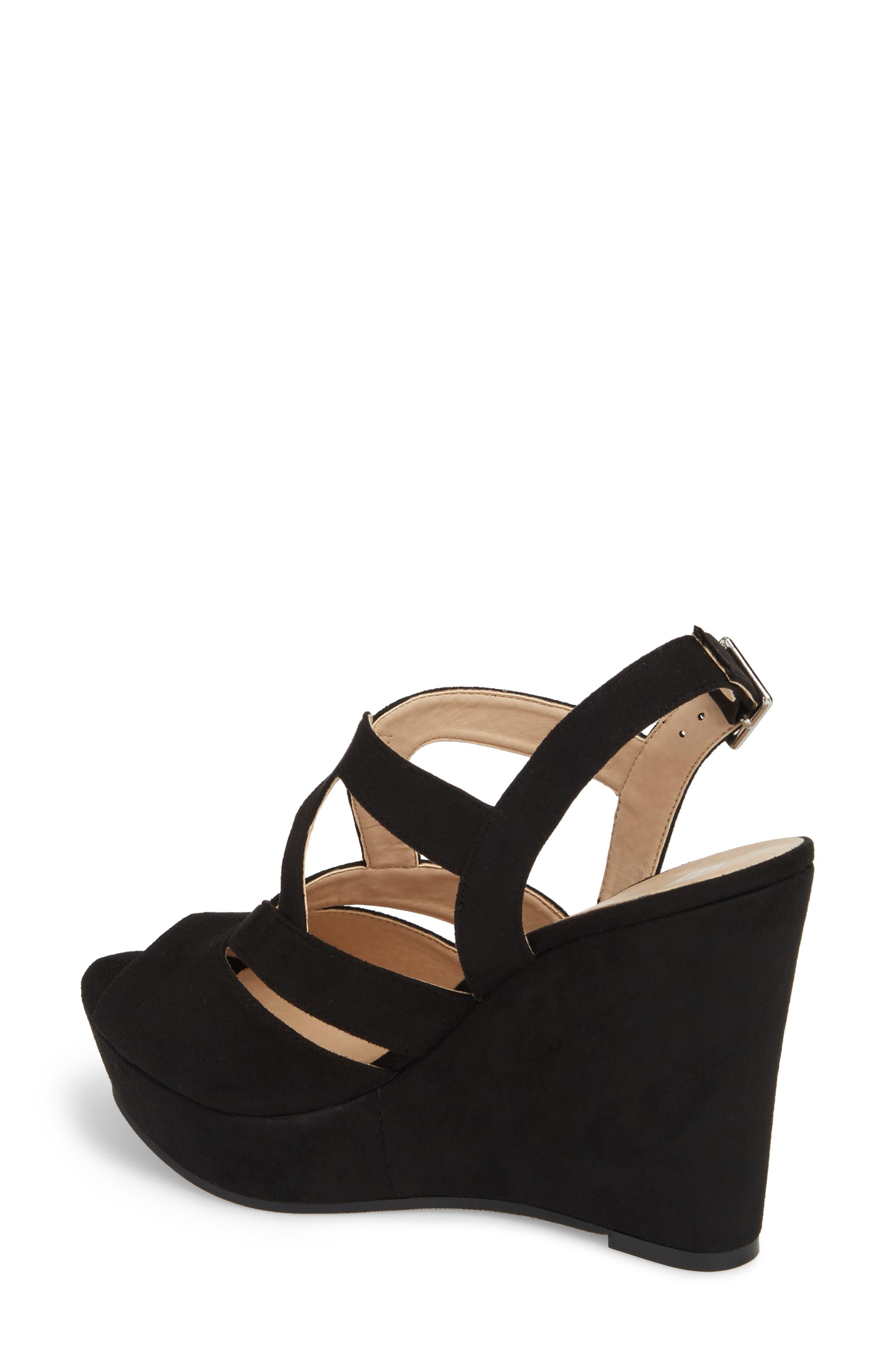 Sunny Platform Wedge Sandal,                             Alternate thumbnail 2, color,                             001