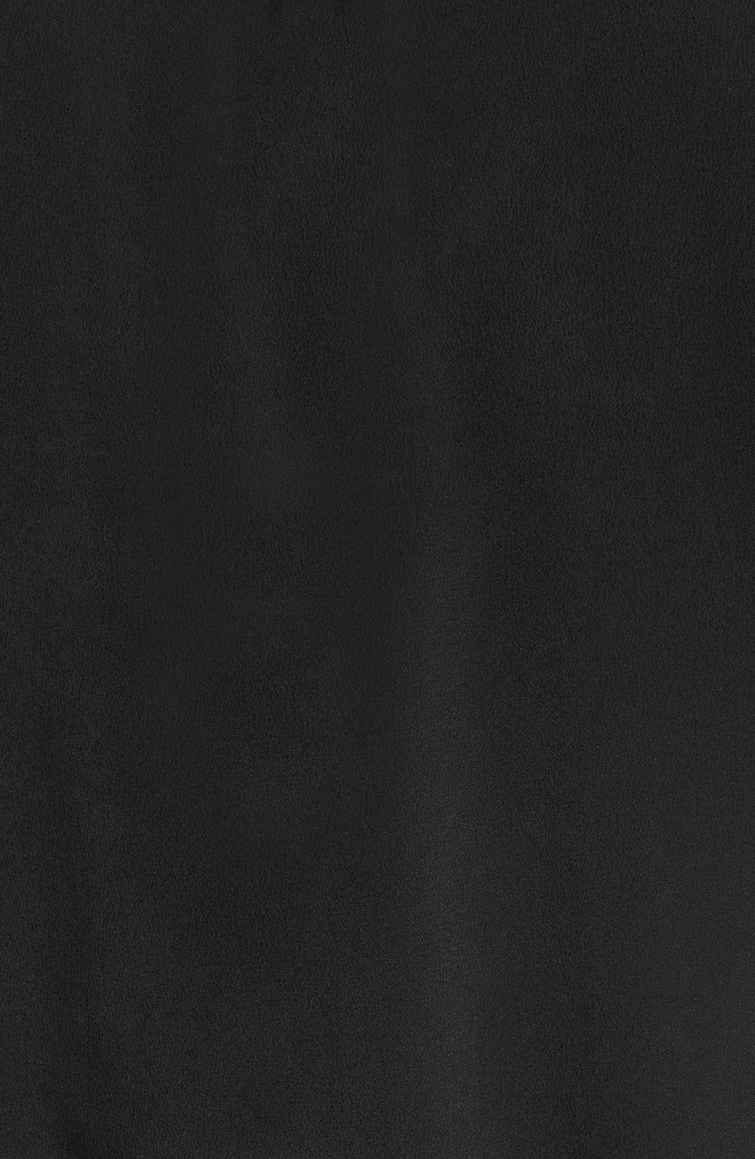 Beaux Ruffle Waist Blouse,                             Alternate thumbnail 5, color,                             BLACK