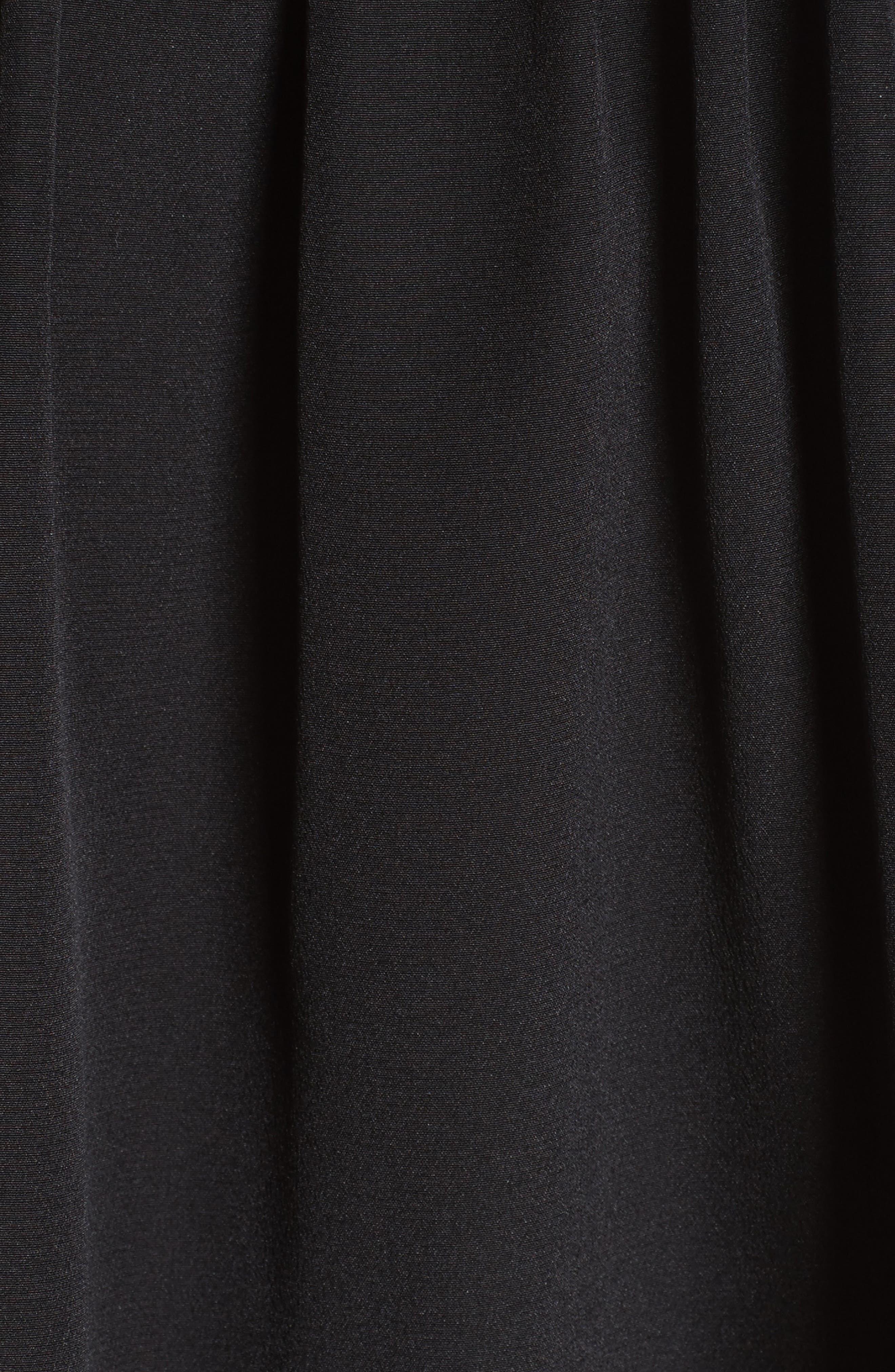 Silk Short Sleeve Blouse,                             Alternate thumbnail 5, color,                             001