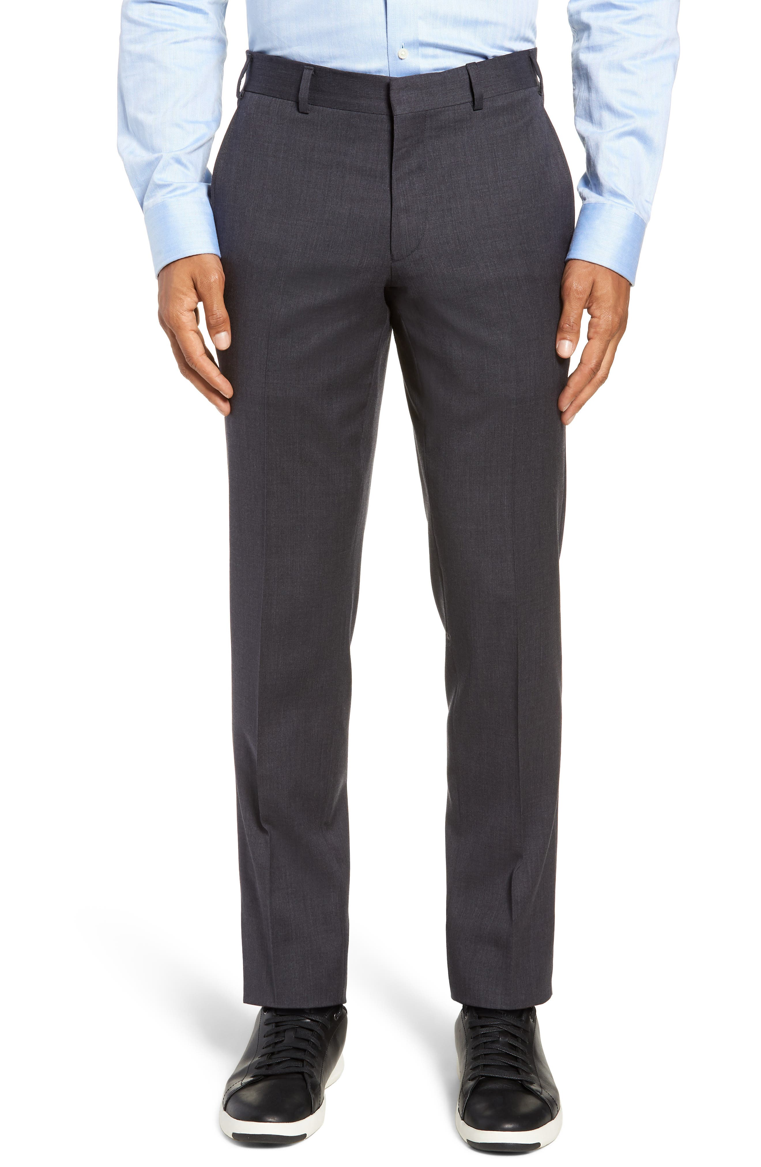 Rove Extra Slim Fit Solid Wool Suit,                             Alternate thumbnail 5, color,                             GREY