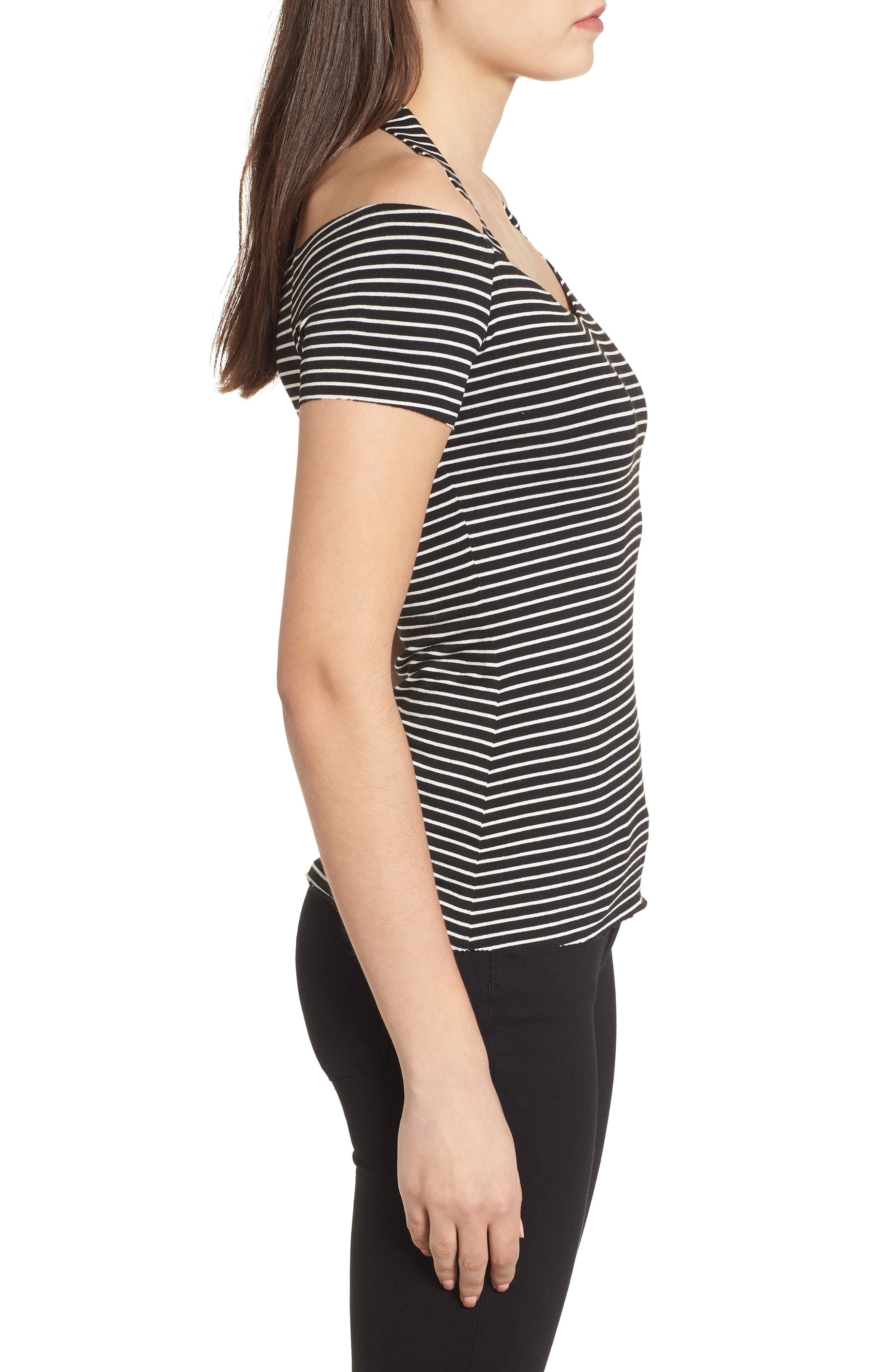 Kiss & Tell Cold Shoulder Top,                             Alternate thumbnail 3, color,
