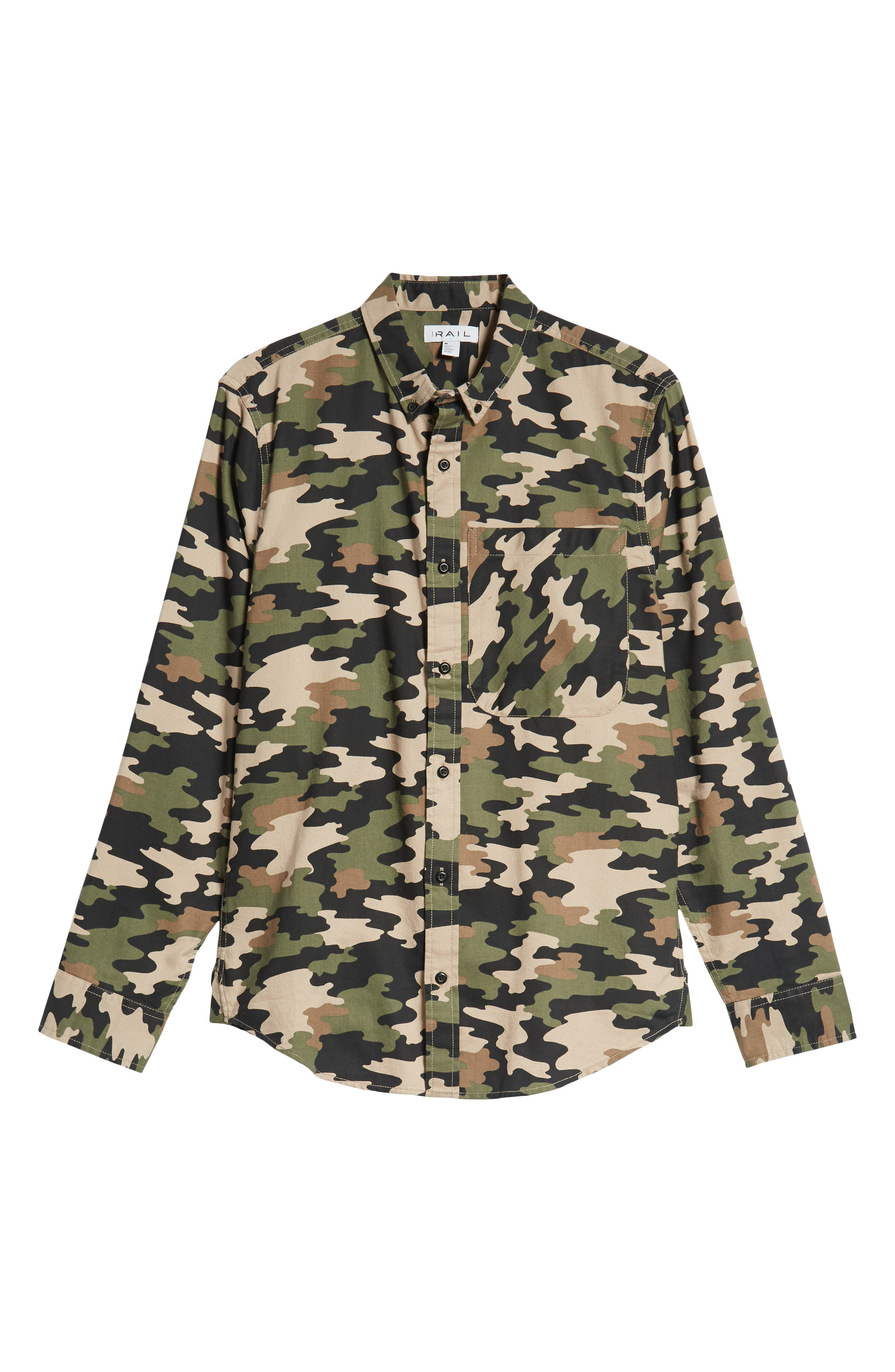 Camo Flannel Shirt,                             Alternate thumbnail 6, color,                             GREEN BLACK CAMO